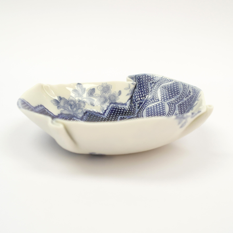 Ceramic Vintage Style Blue Floral Bowl (Boxed)