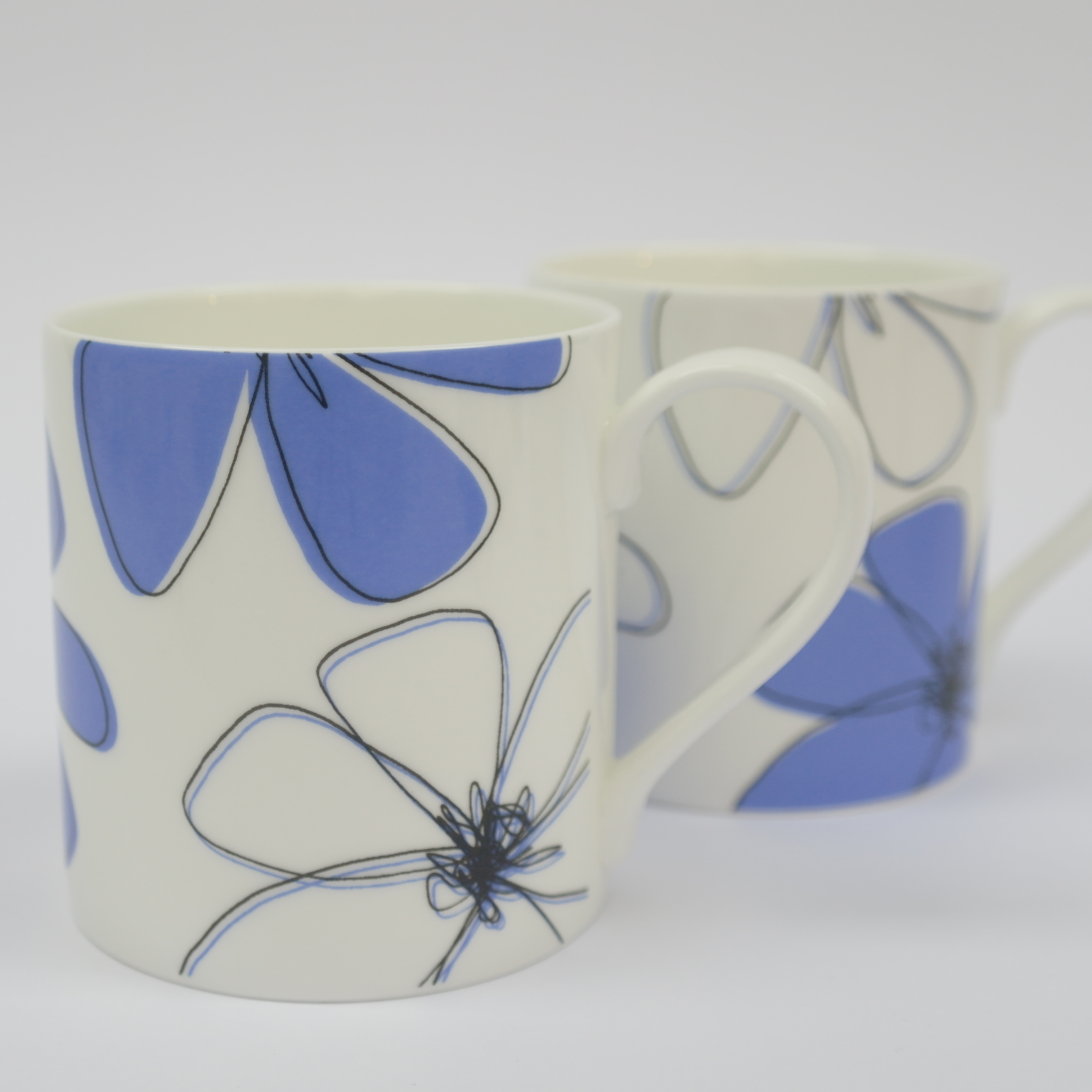 Daisy Closed Floral Mug Boxed (English Fine Bone China) Available in 6 Colourways