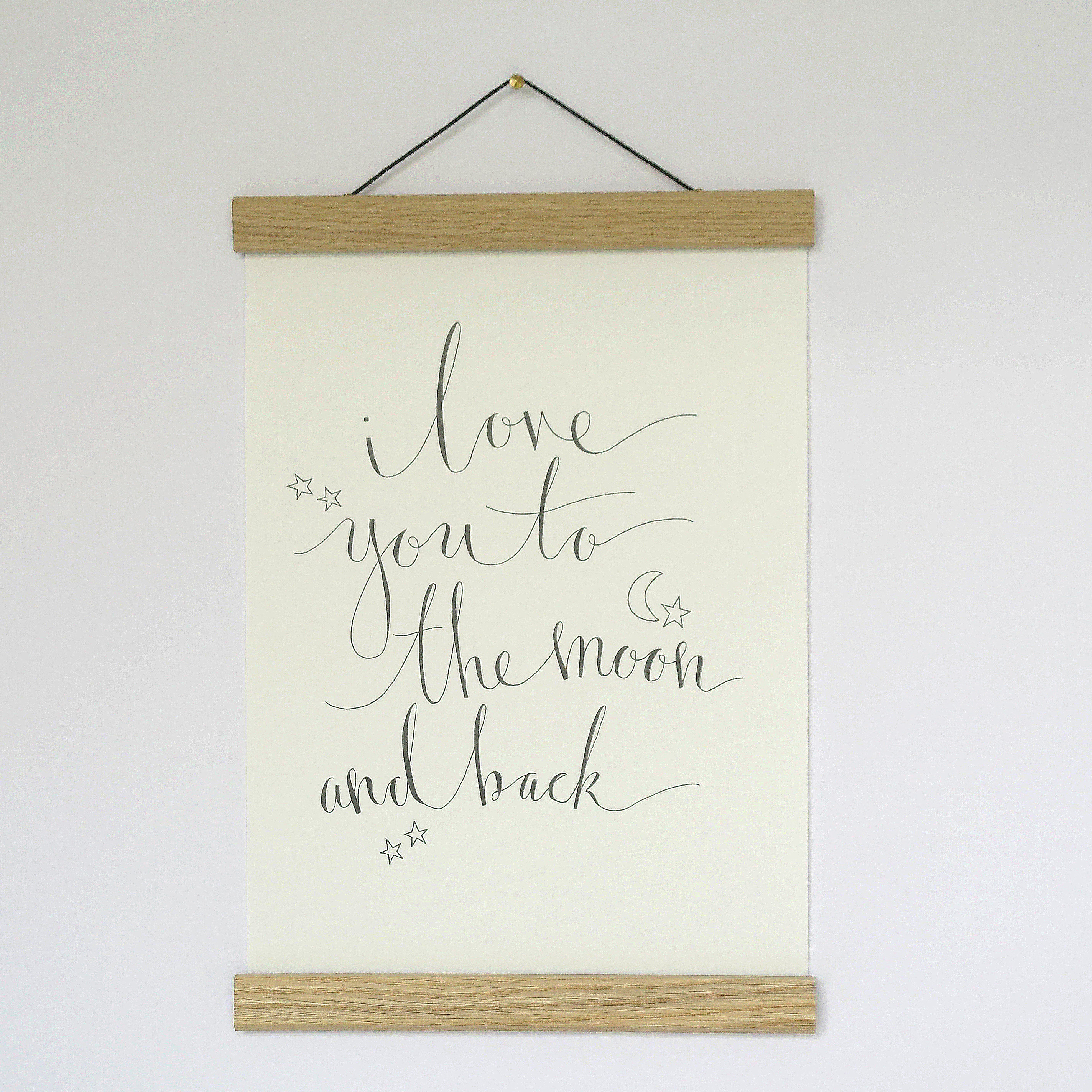 A4 Calligraphy Prints Unframed available in other styles