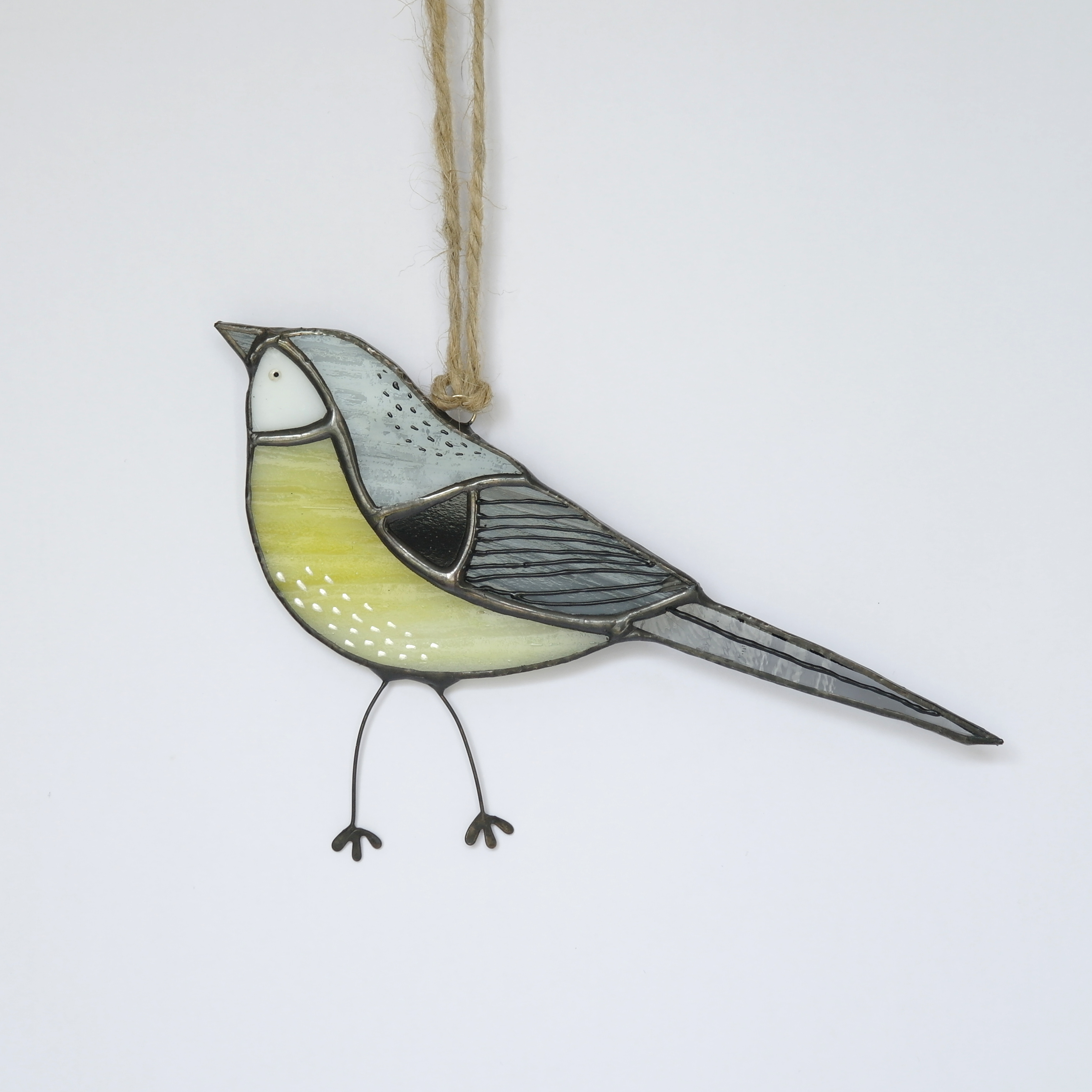 Grey Wagtail Glass Hanging (Boxed)