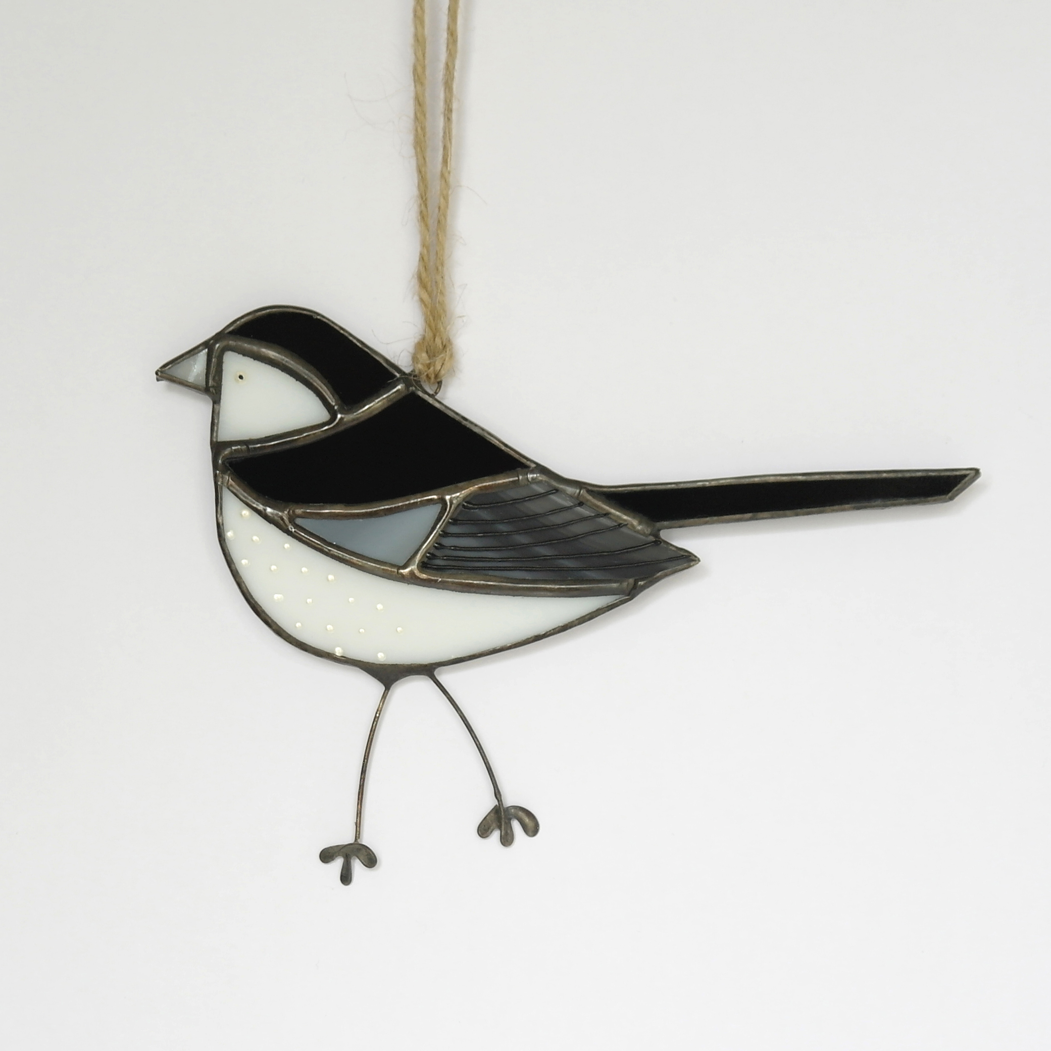 Pied Wagtail Glass Hanging (Boxed)