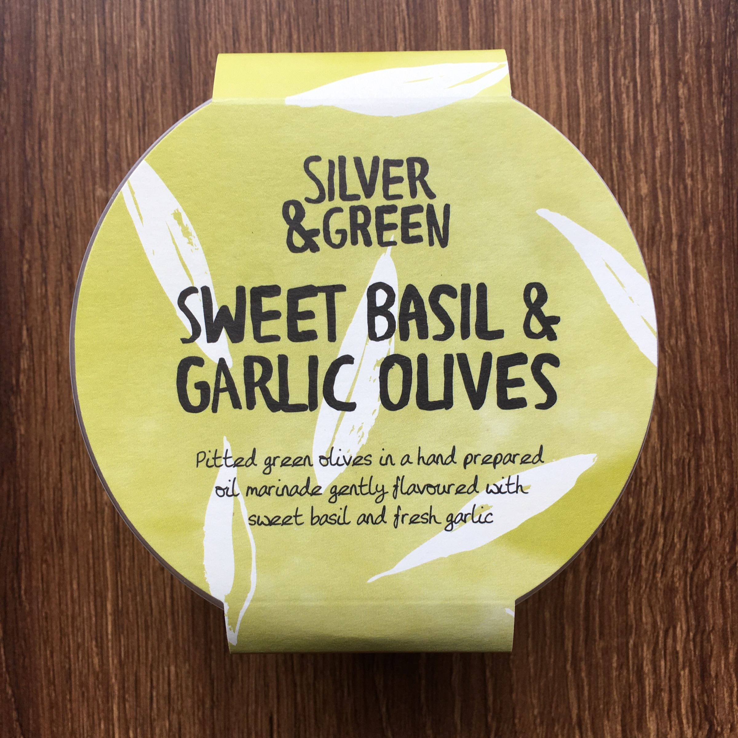 Sweet Basil & Garlic Olives