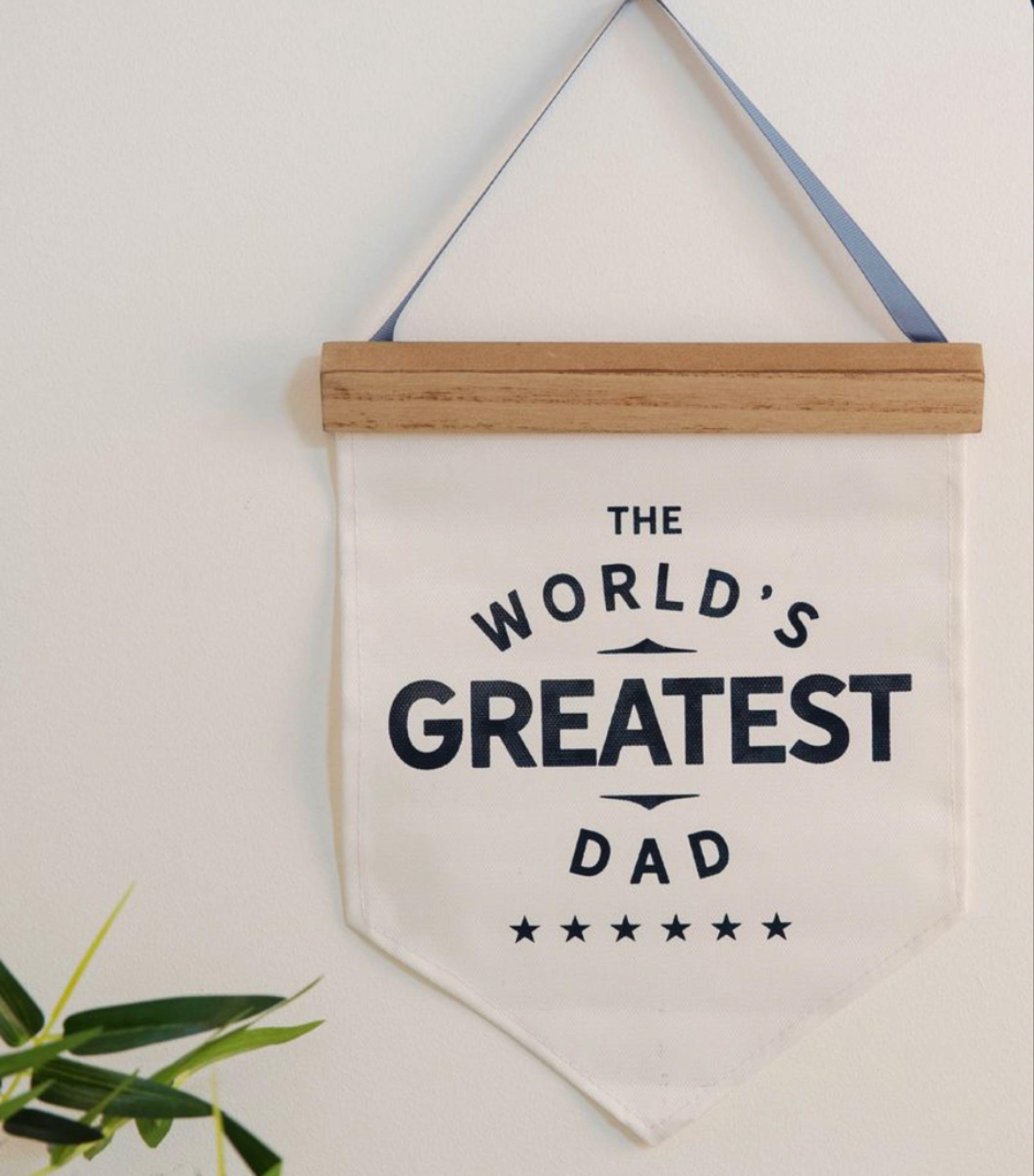 Worlds Greatest Dad Canvas Pendant