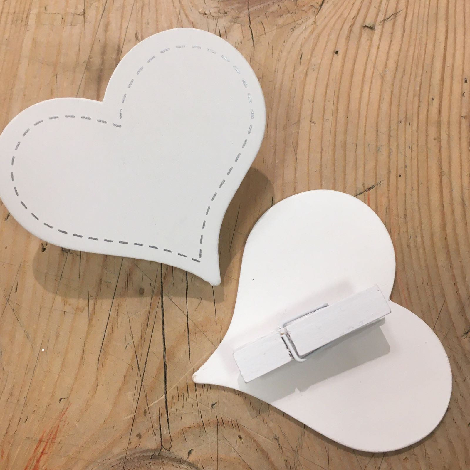 Bordkort Hjerte m/klype