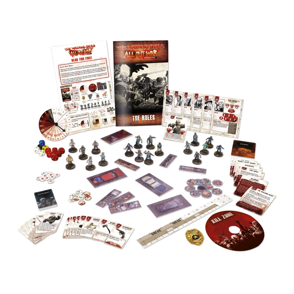 The Walking Dead - CORE GAME -  ALL OUT WAR - Miniatures Game