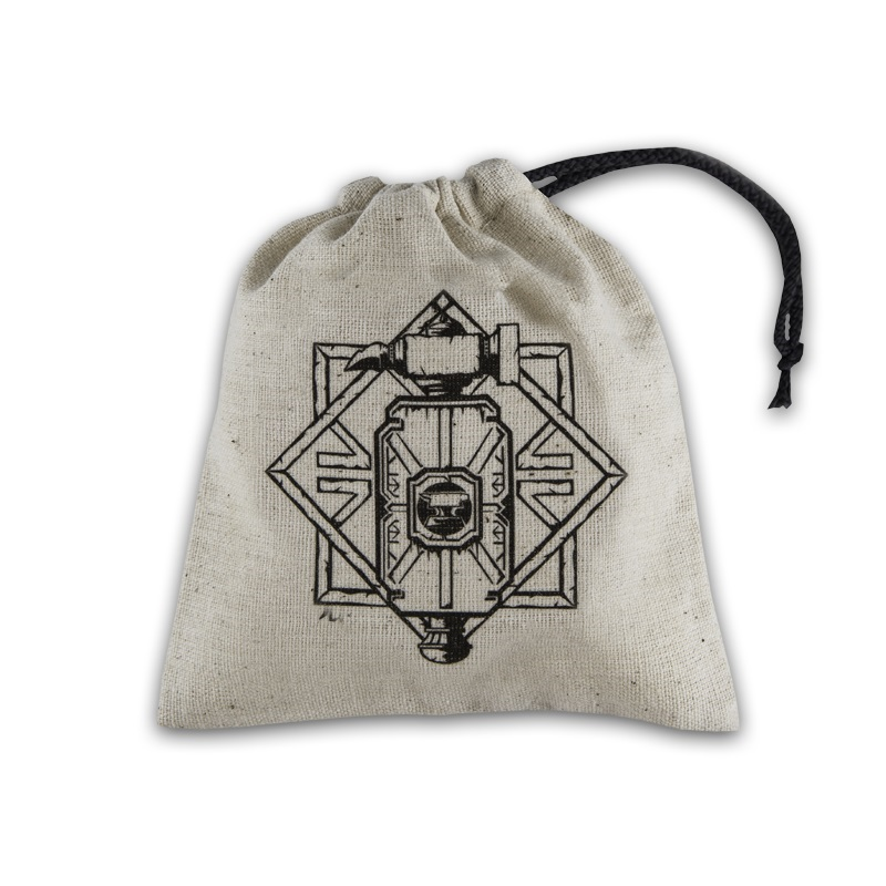 Dice Bag Dwarven Black & White basic