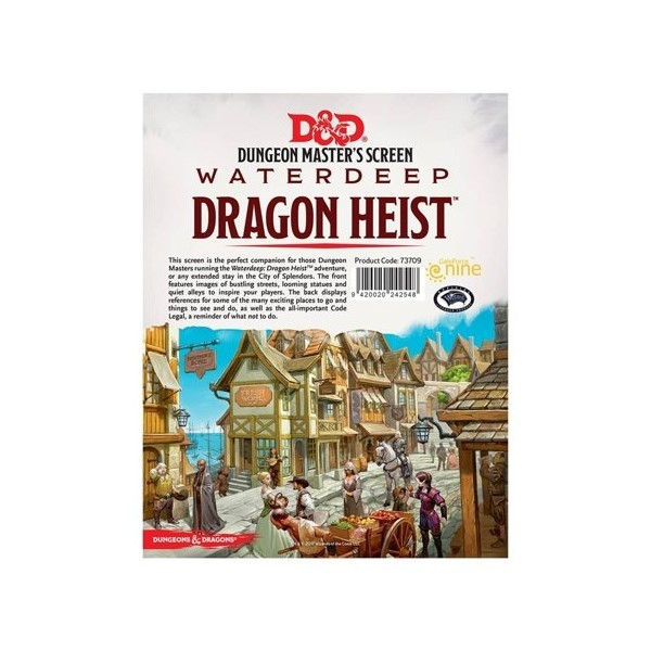 D&D 5e DM Screen - Waterdeep Dragon Heist