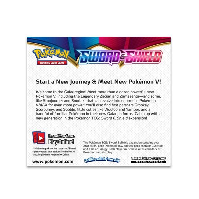 Pokémon TCG Sword & Shield Booster Display