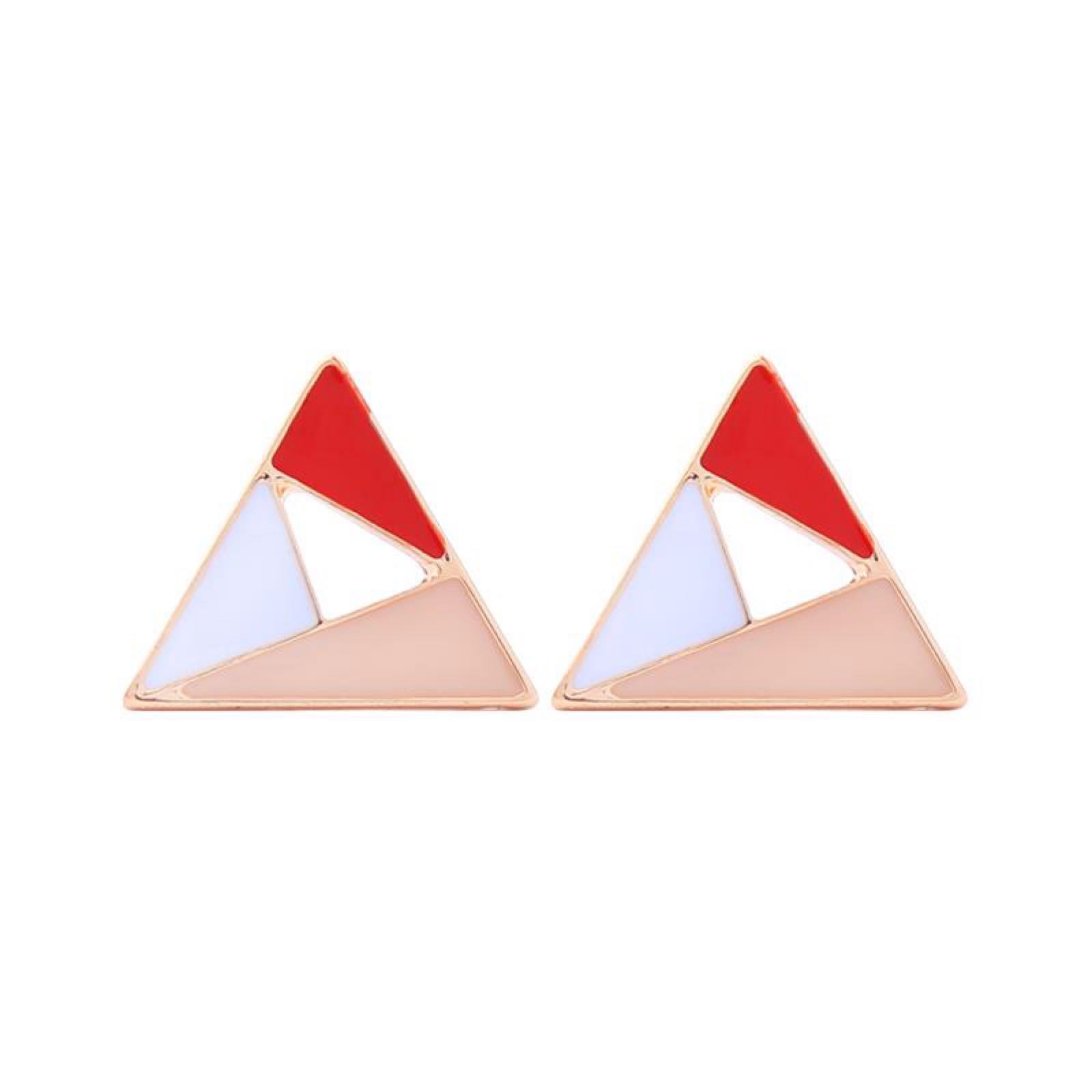 Last true angel geometric pyramid earring in red LE529G