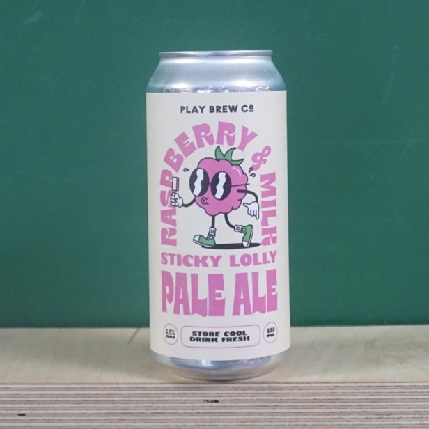 Play Brew Co Raspberry & Milk Sticky Lolly Pale Ale