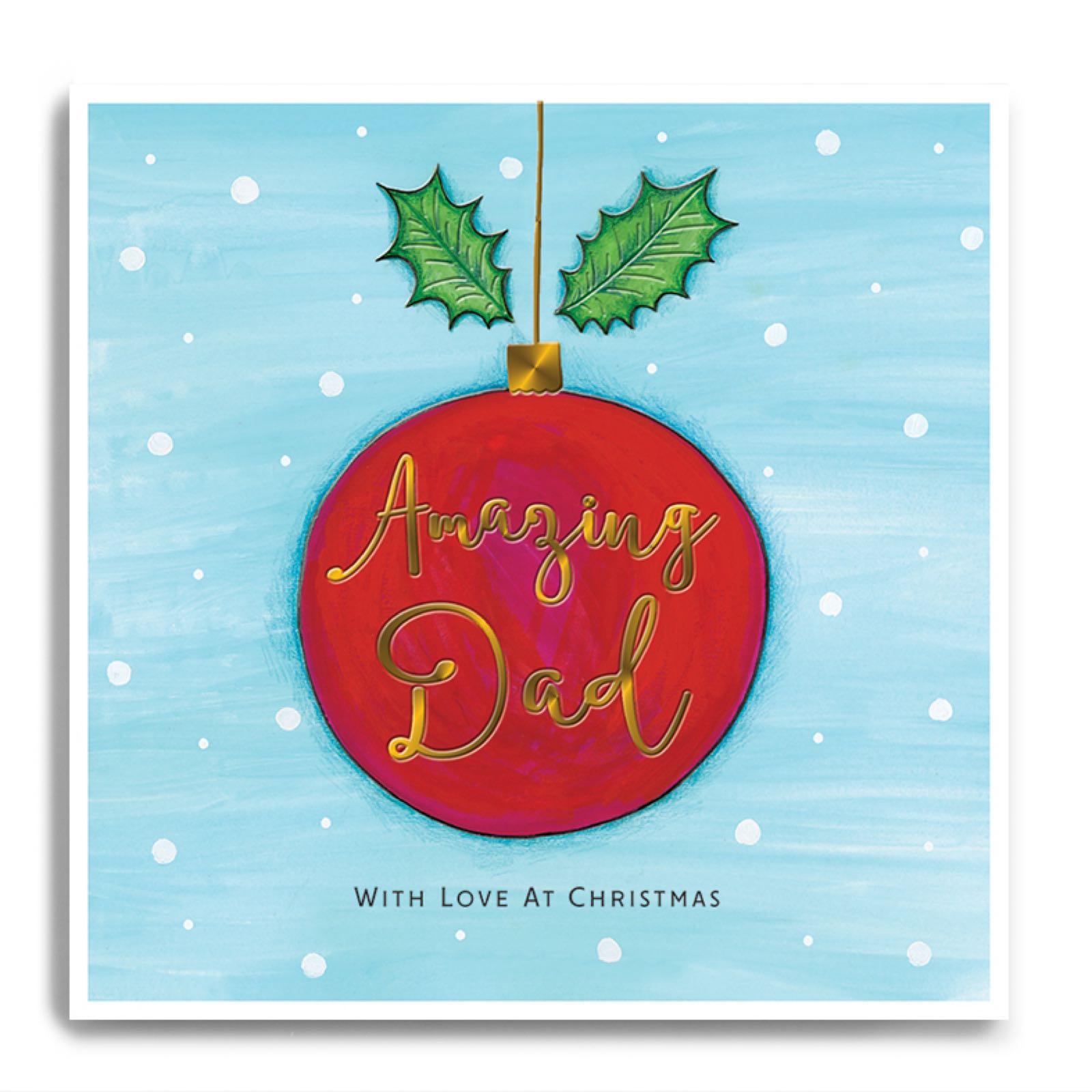 Janie wilson Amazing Dad Christmas card