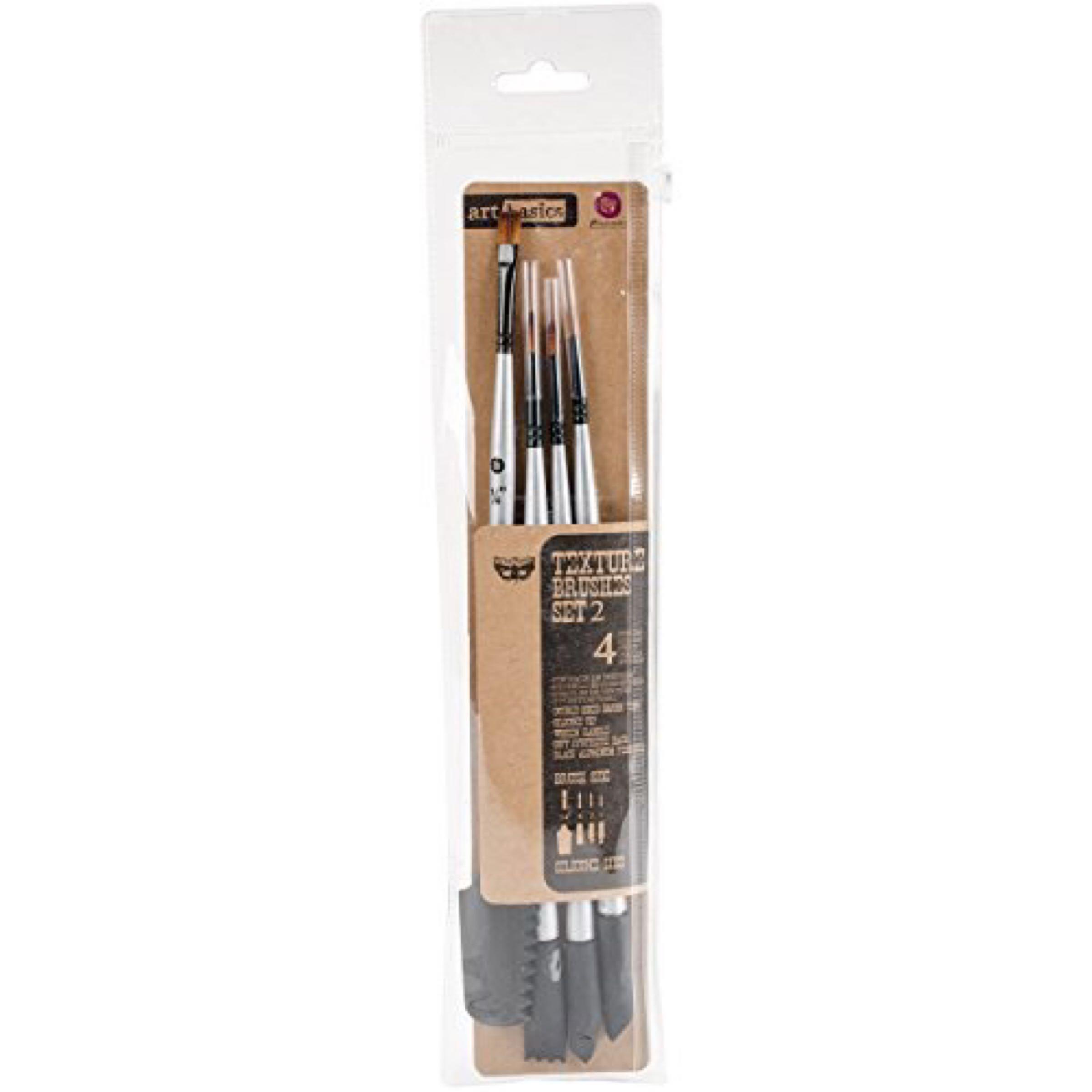 Finnabair Art Basics Double Ended  Texture Brushes - Set 2