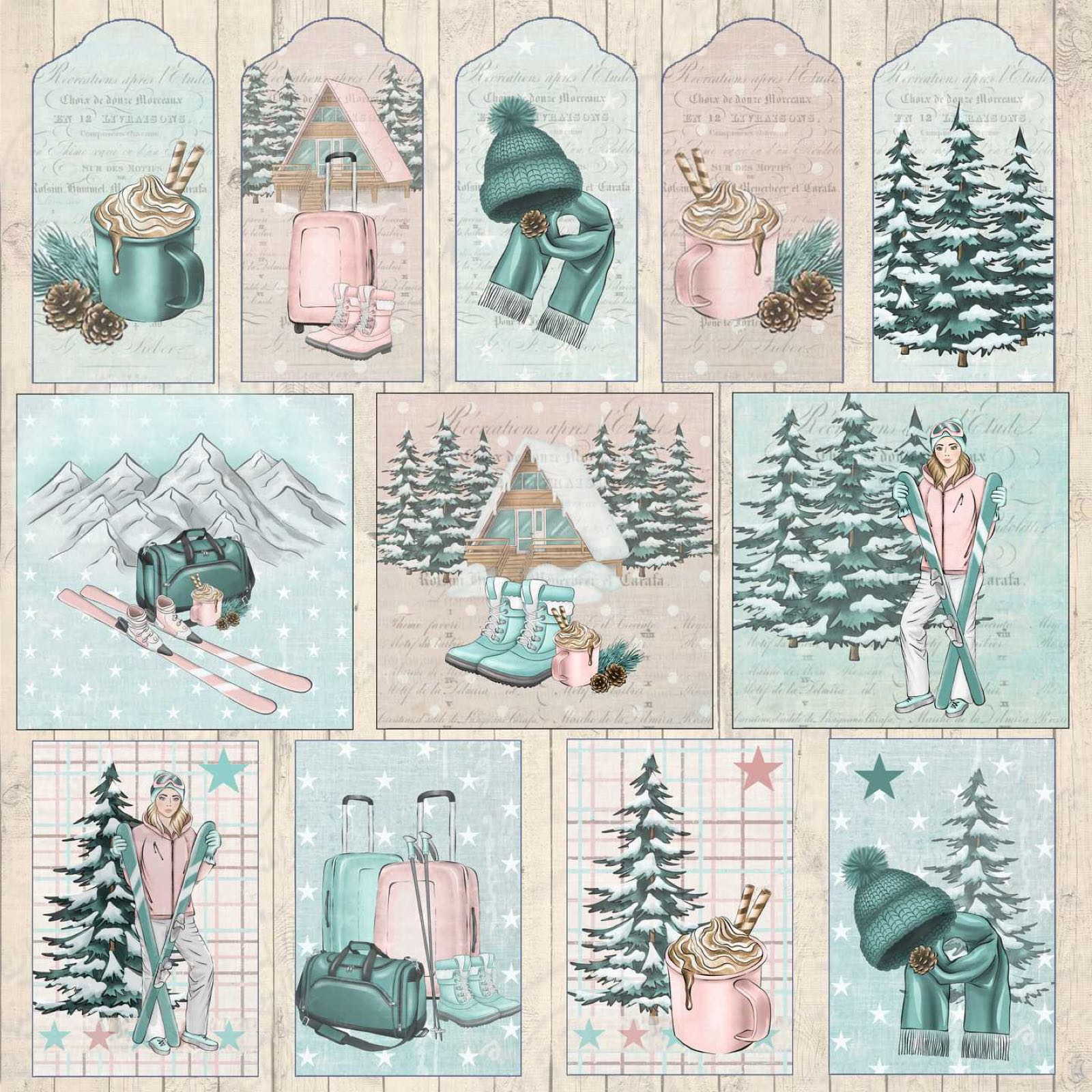Reprint  Cosy Winter Tags  rp0418