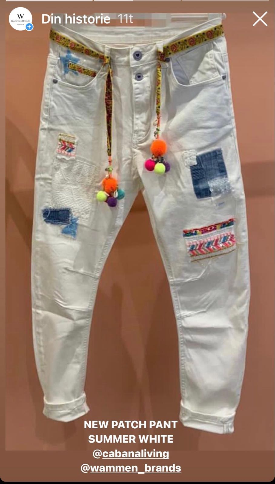 cabana living - White patch jeans