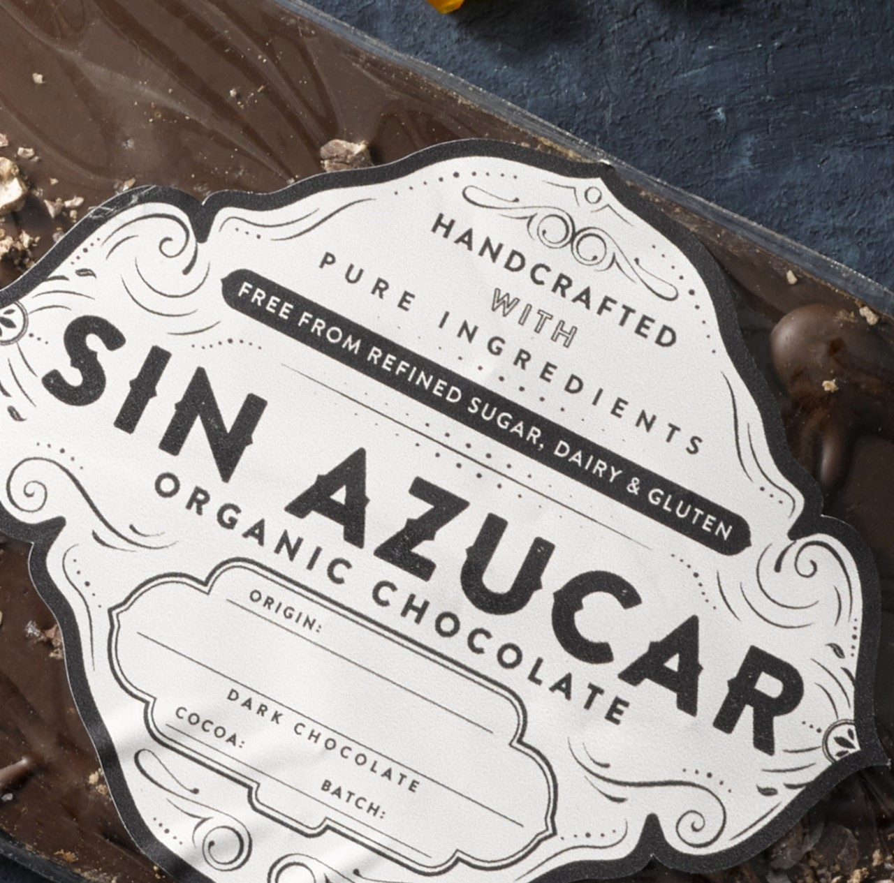 Sin azucar organic chocolate