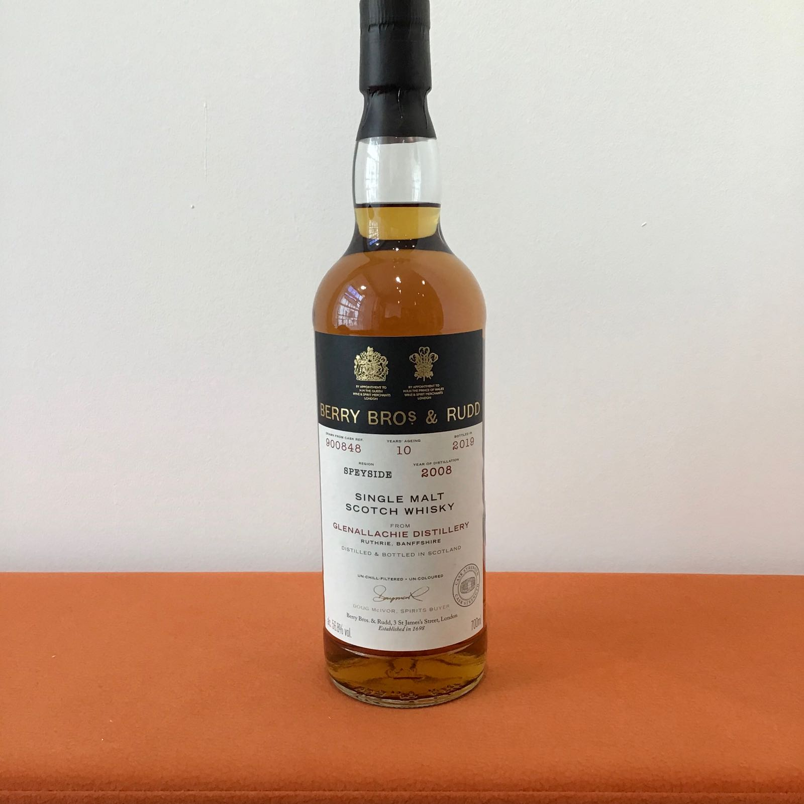 Berry Bros & Rudd: Glenallachie 10 Year Old Single Cask (#900848)