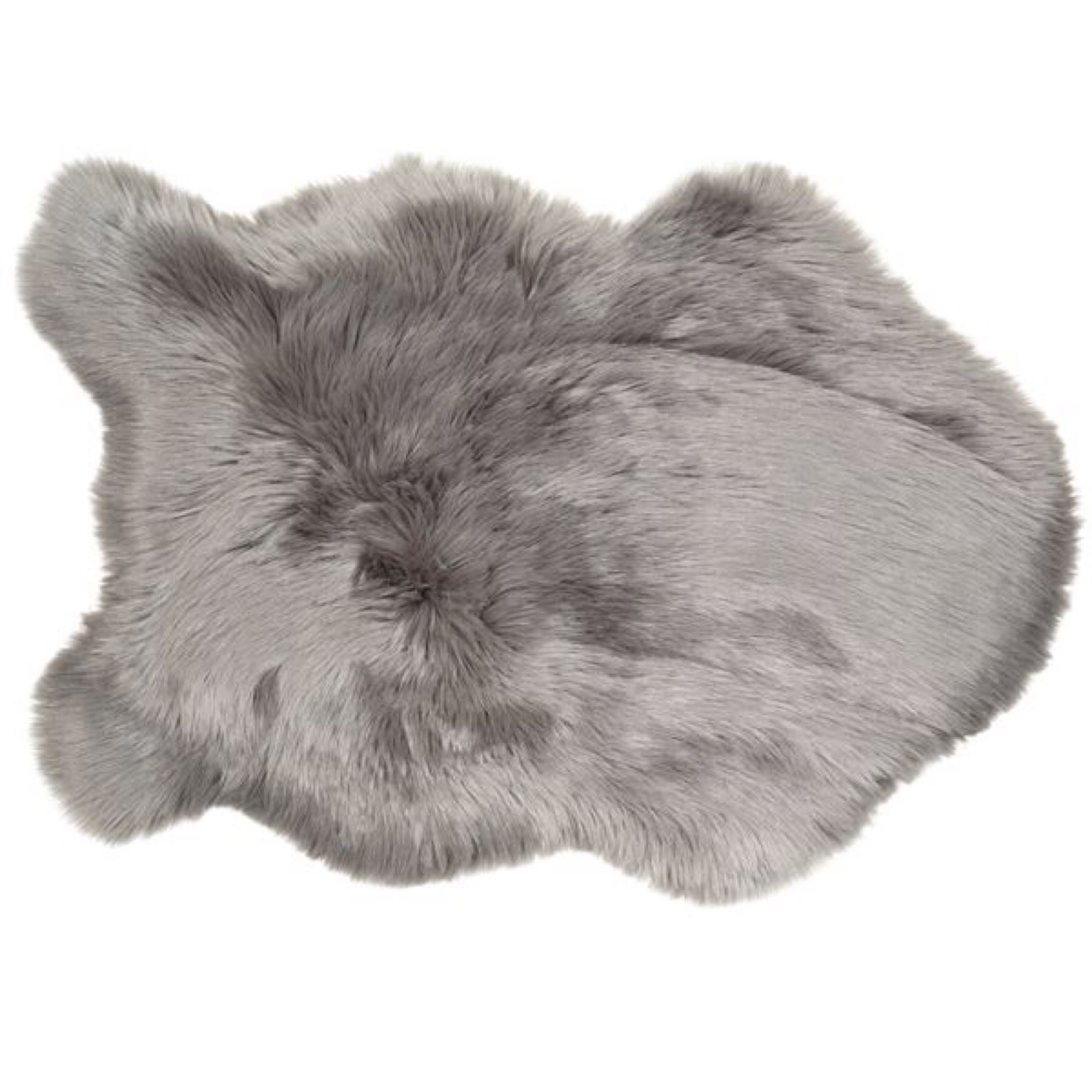 Faux Sheepskin Rug - Grey