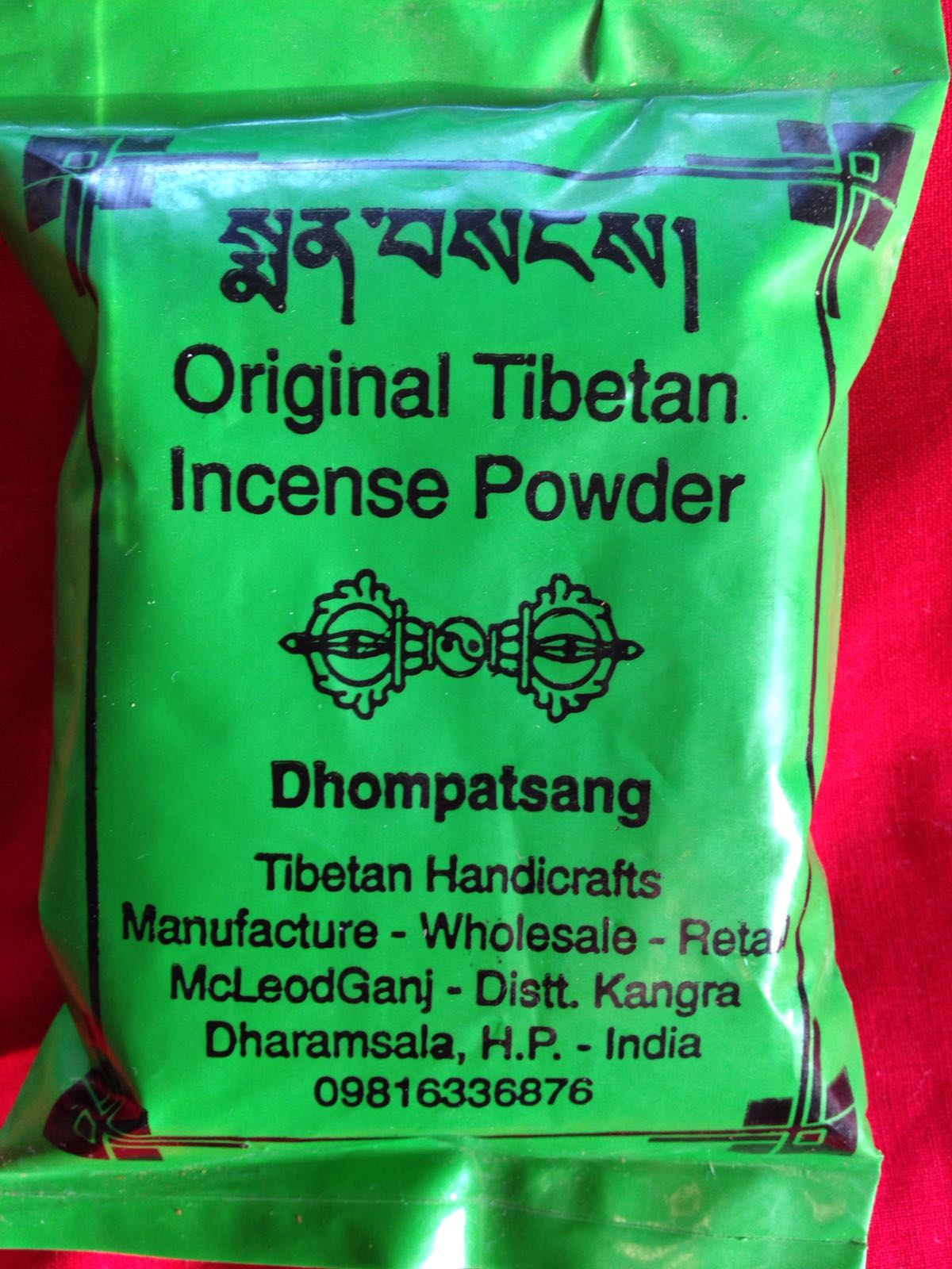 Tibetan incense powder - Dhompatsang, 80 gr