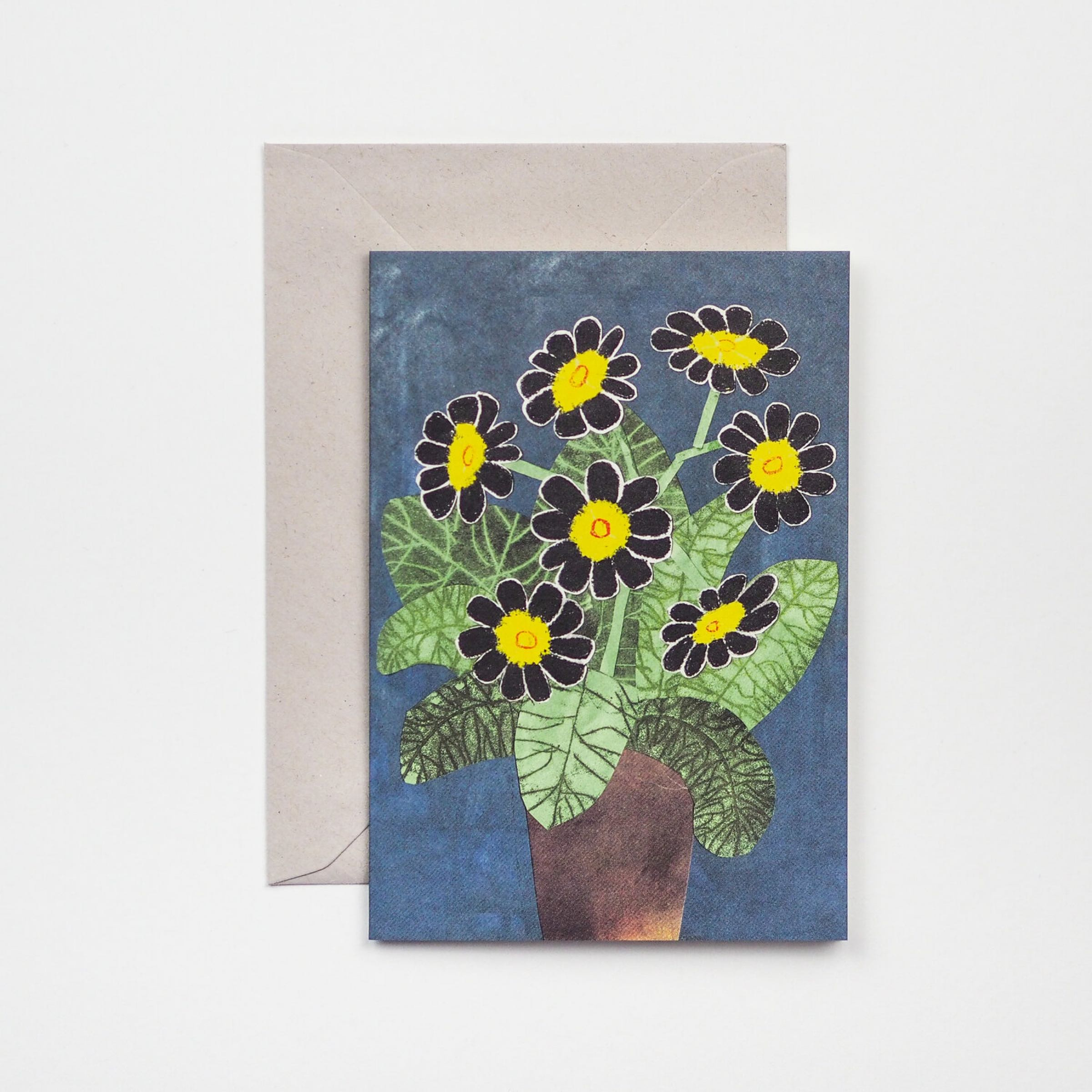 Black Flowers Card by Hadley Paper Goods