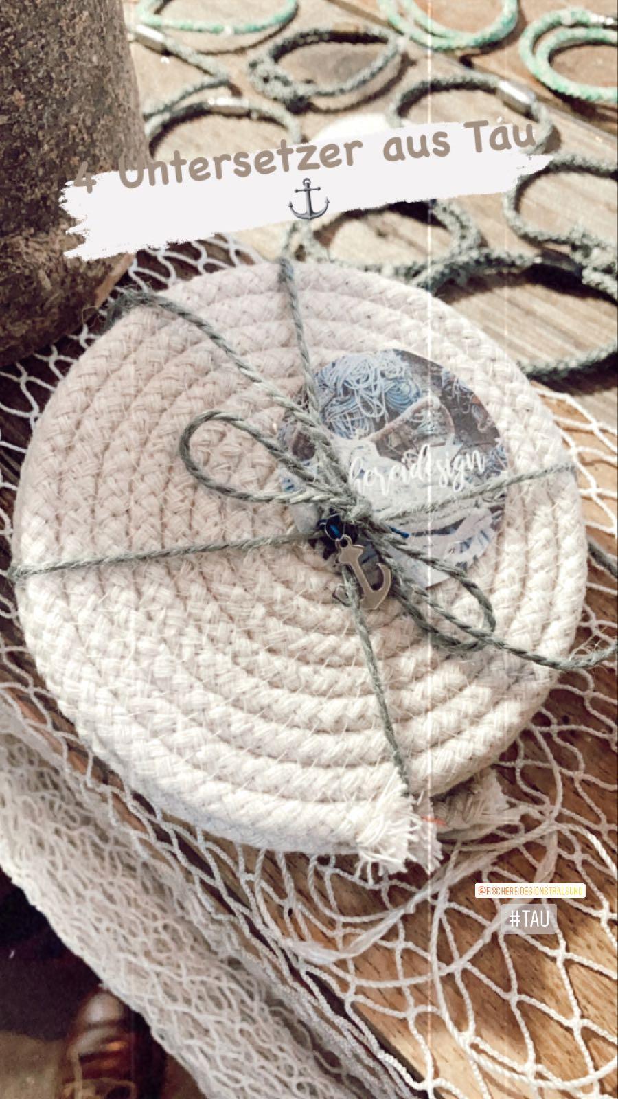 Fischereidesign Untersetzer aus Tau