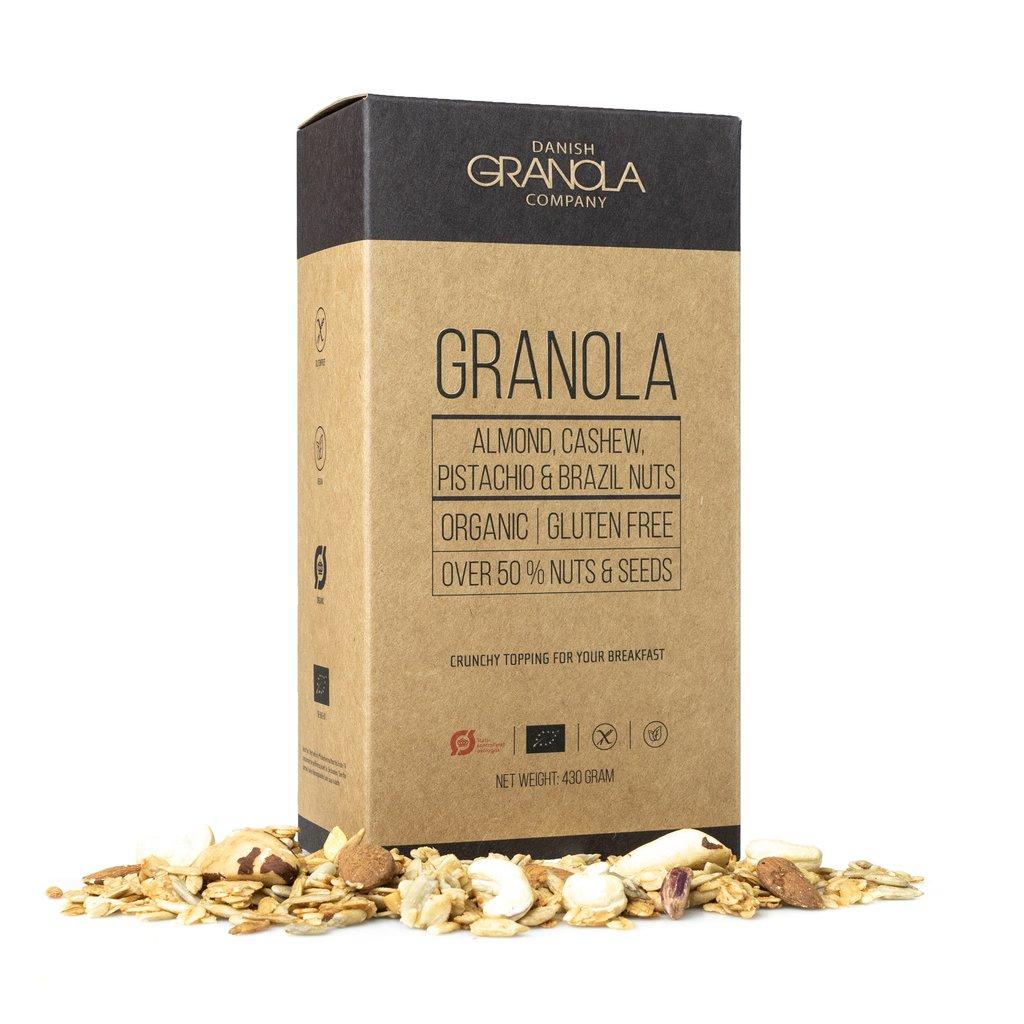 DANISH GRANOLA - Mandel, cashew, pistacie & paranødder