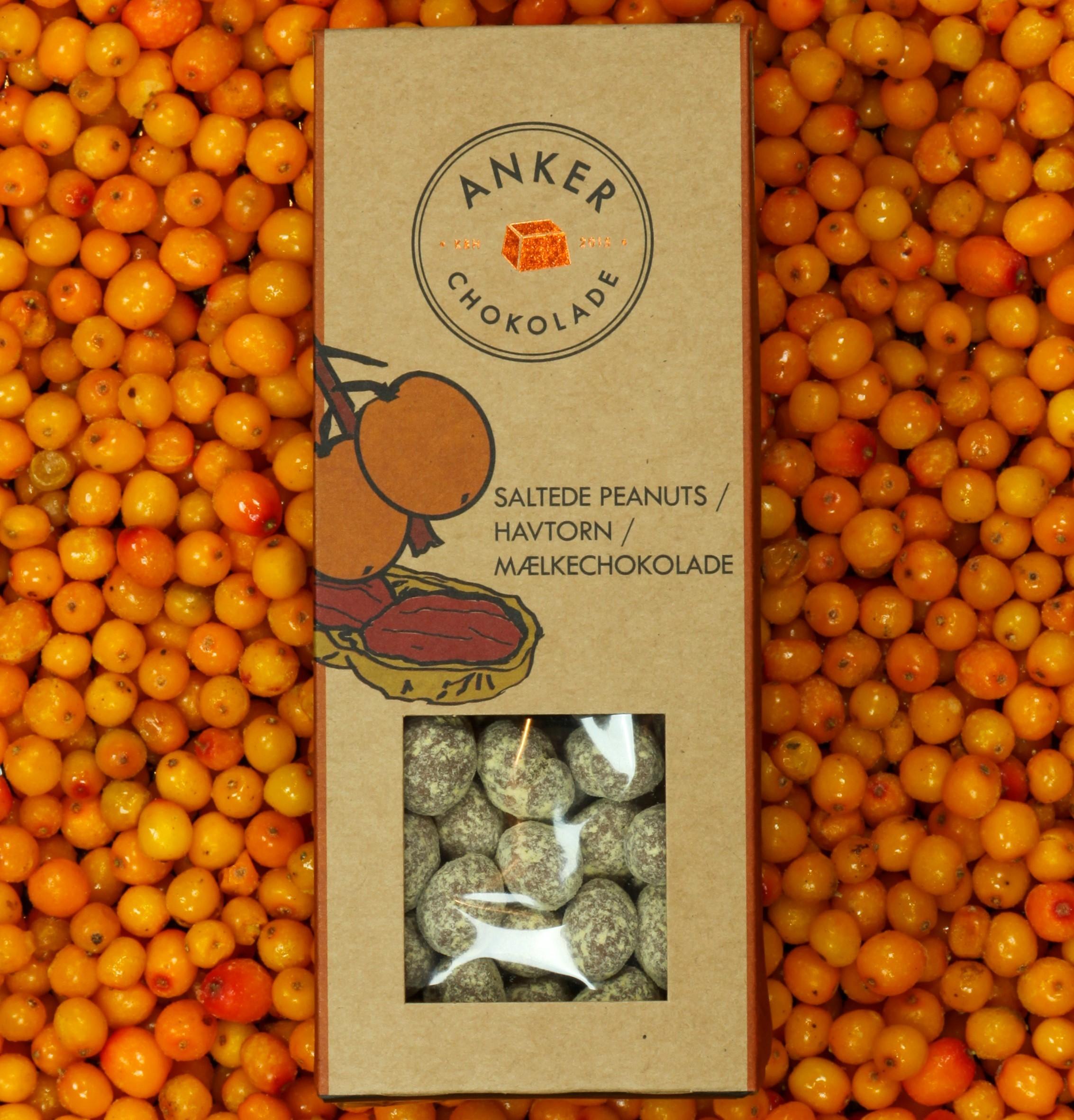 Ankers Dragee - Saltede Peanuts/Havtorn/Mælkechokolade