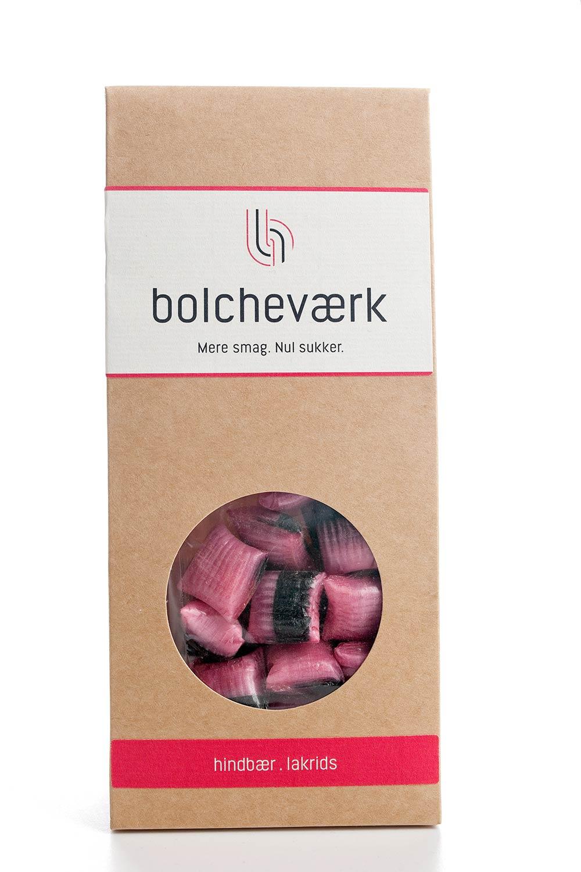 Bolcheværk - Hindbær og lakrids, sukkerfri bolcher