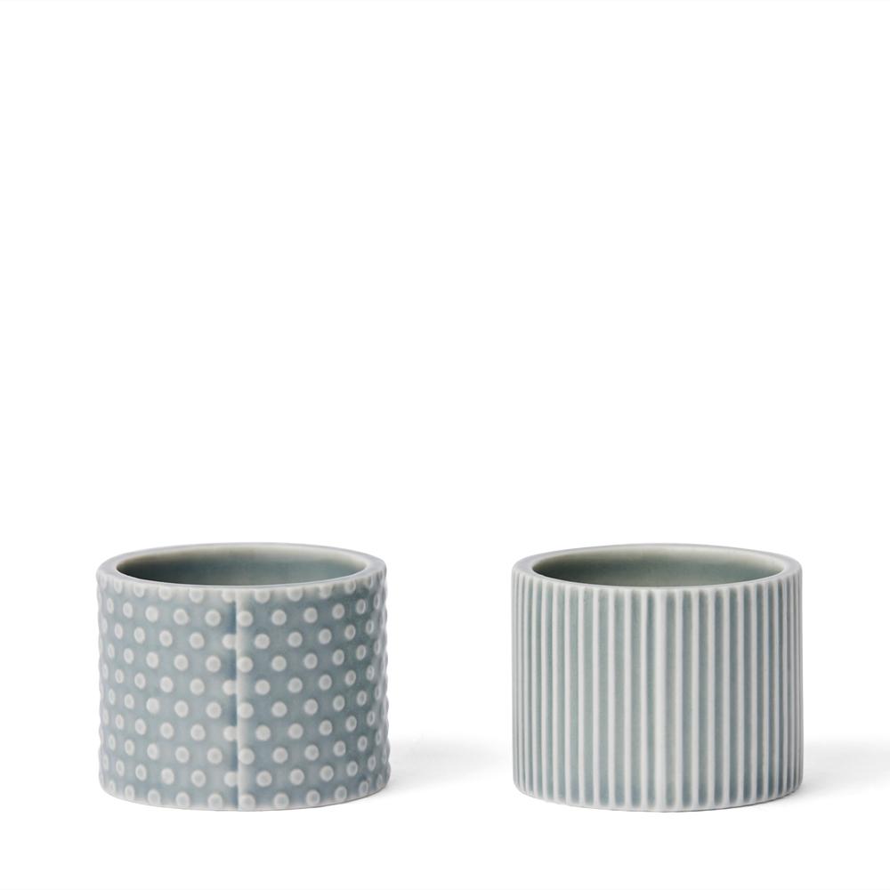 Dottir - Pipanella Egg Cups - Blue grey