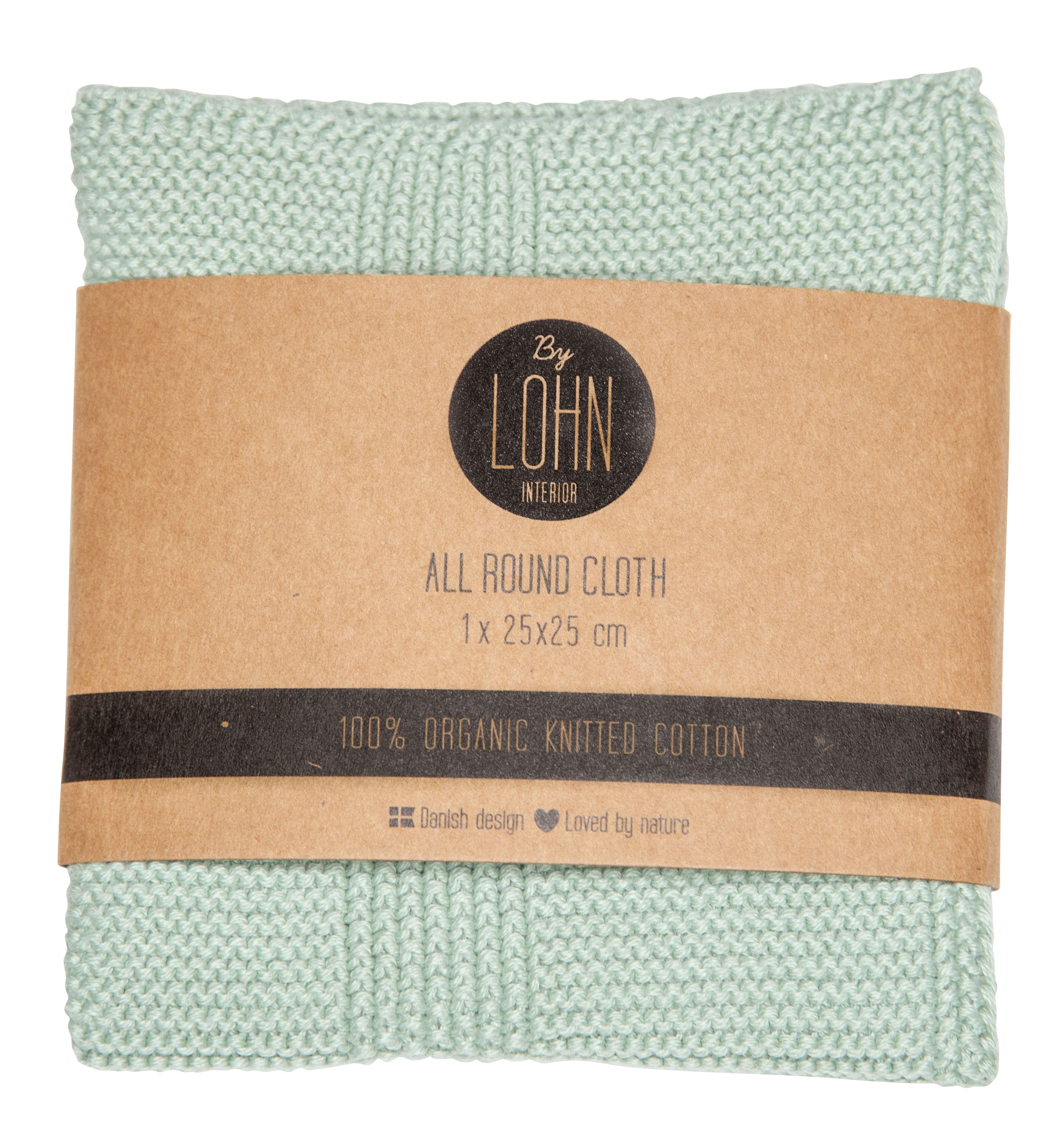 By LOHN – All round cloth 25 x 25 cm, Light Mint
