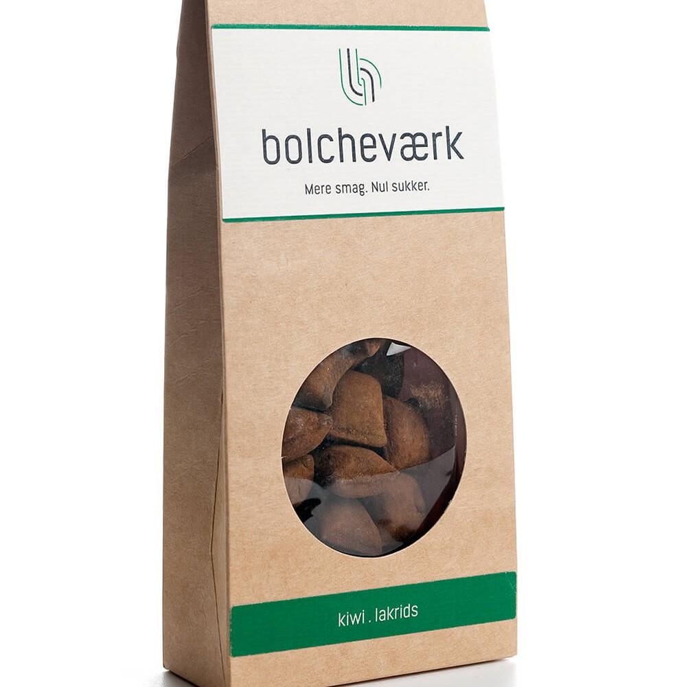 Bolcheværk - Kiwi og lakrids, sukkerfri bolcher