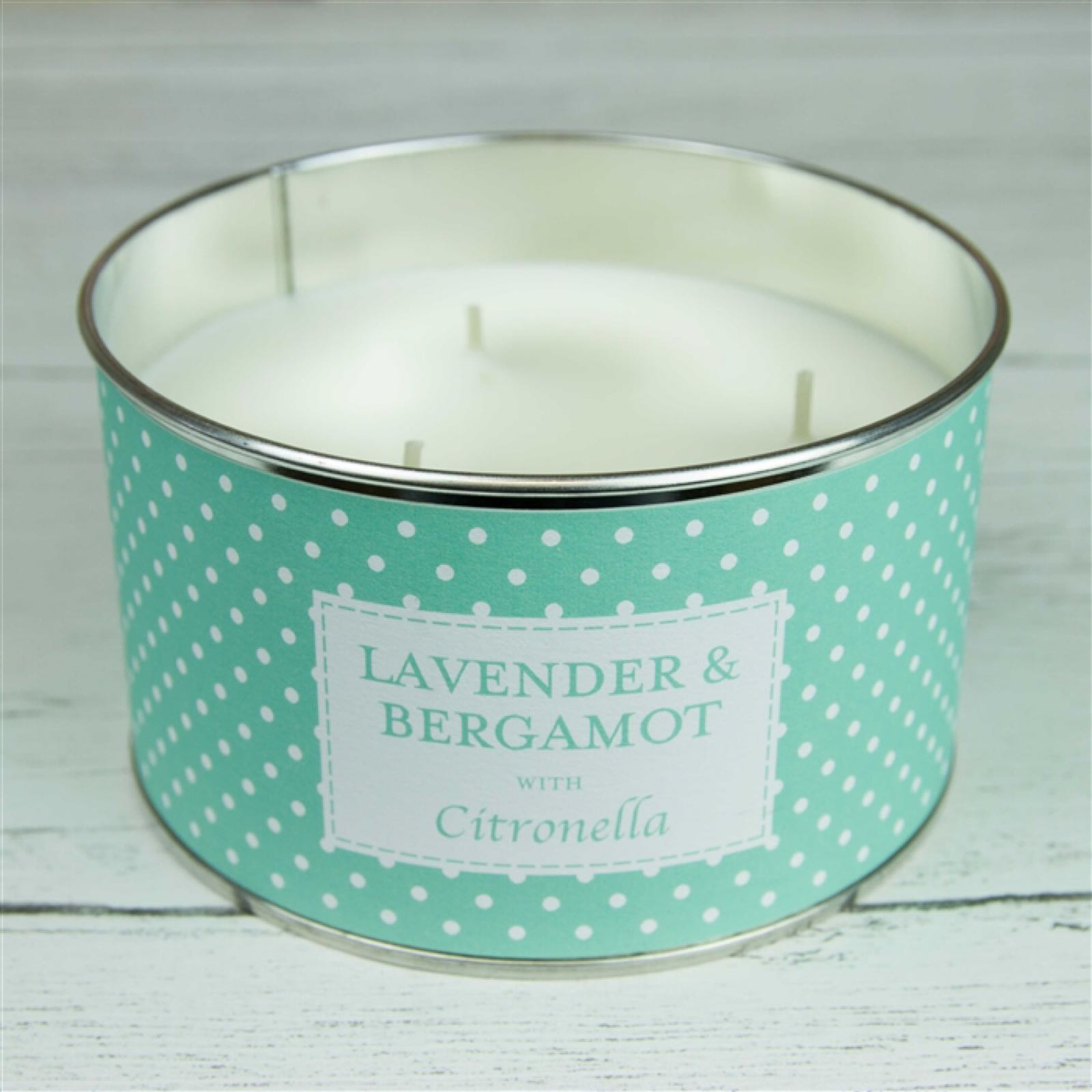 'Lavender & Bergamot' Triple Wick Candle in a Tin