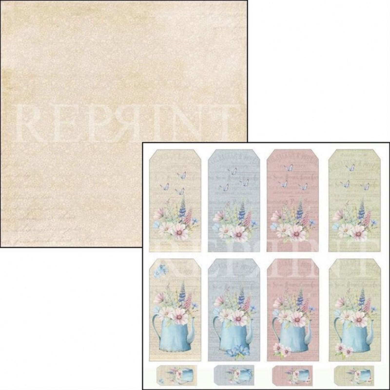 Reprint 12x12, Summervibes collection, tags. rp0358