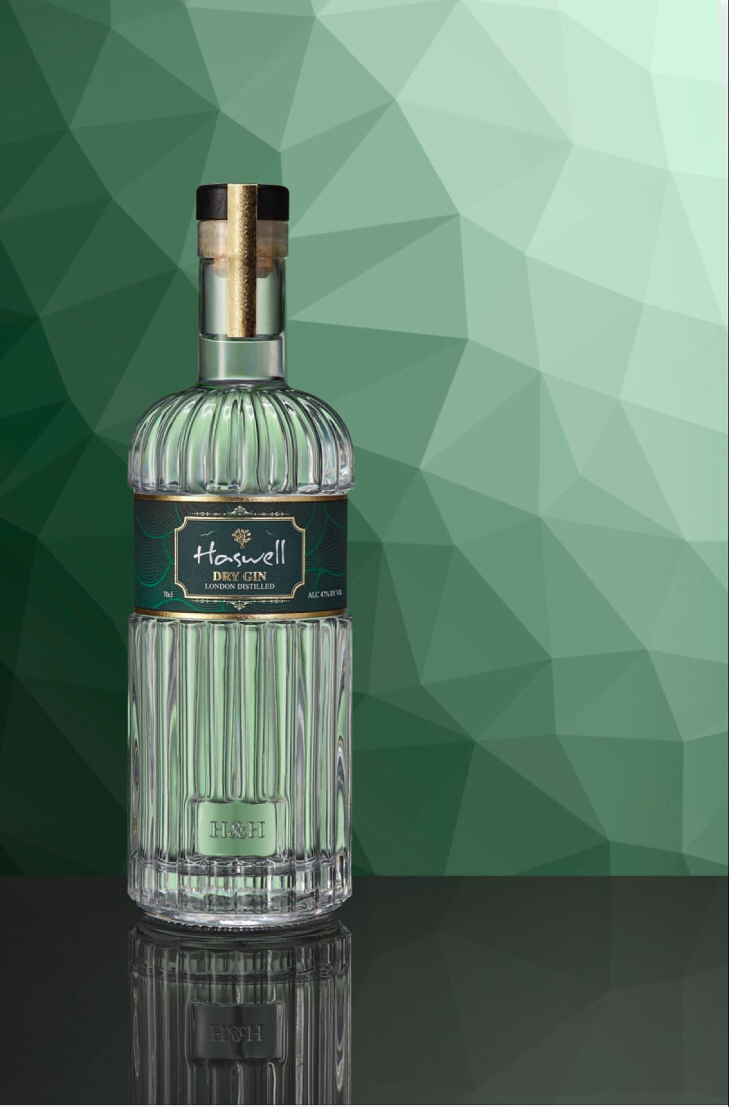 Haswell London Dry Gin 70cl@47%ABV Including UK Postage