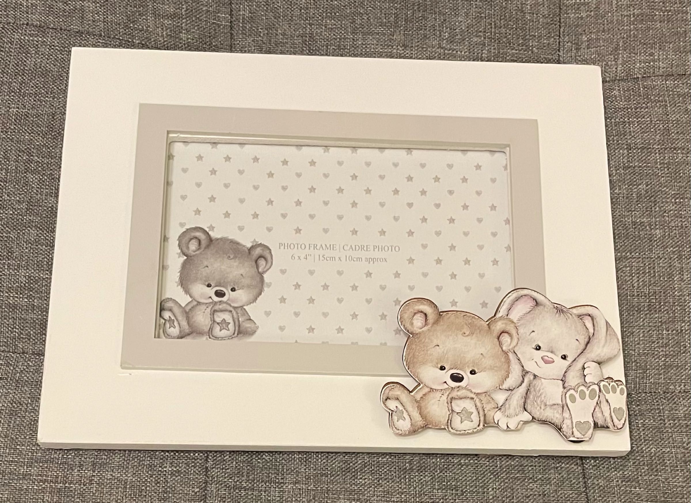 6x4 natural baby photo frame (can be engraved)