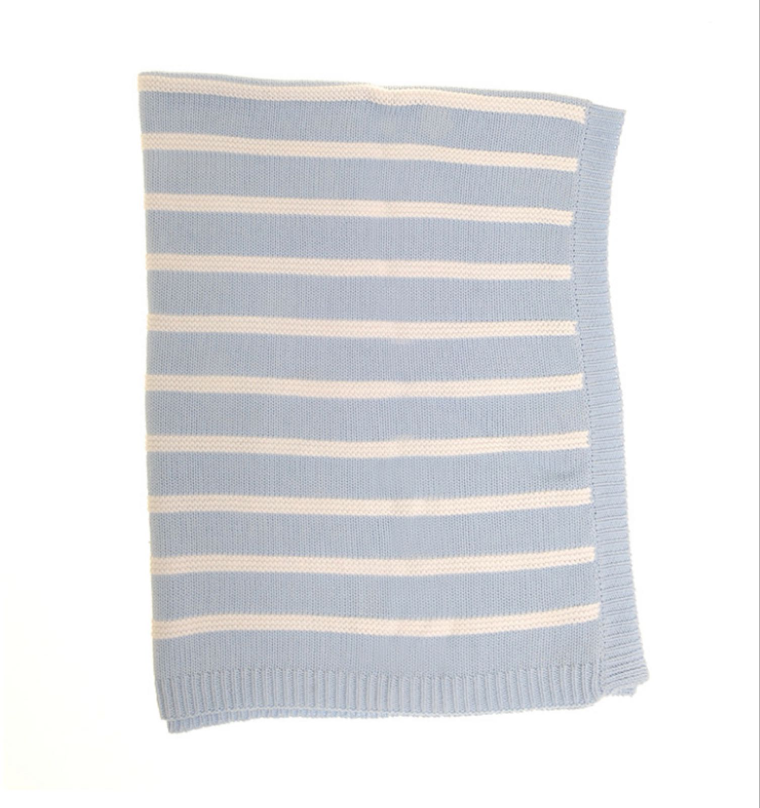 Ziggle Blue & White Stripes Blanket