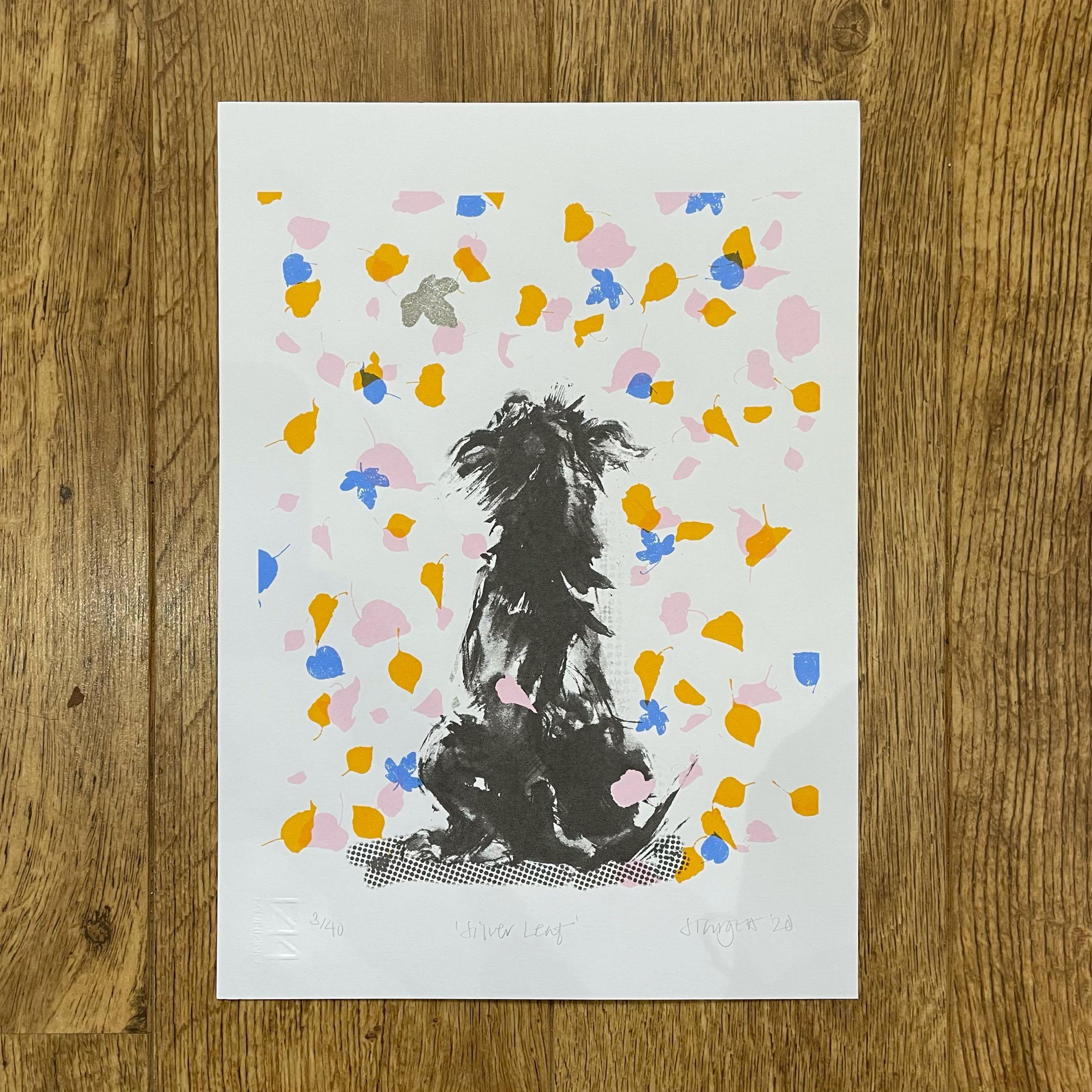 'Silver Leaf', Silkscreen print by Sarah Targett