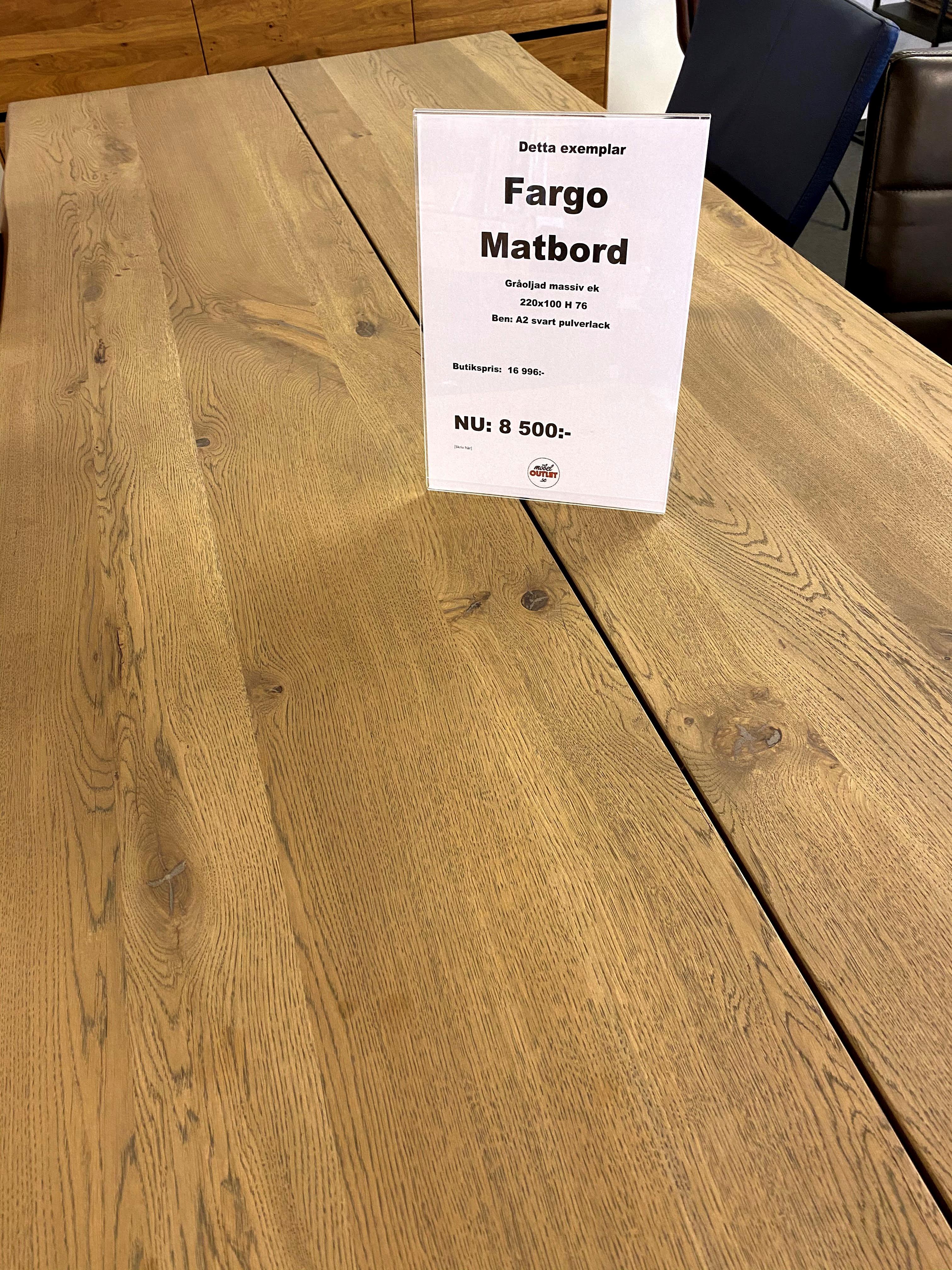 Fargo Matbord 220x100x76
