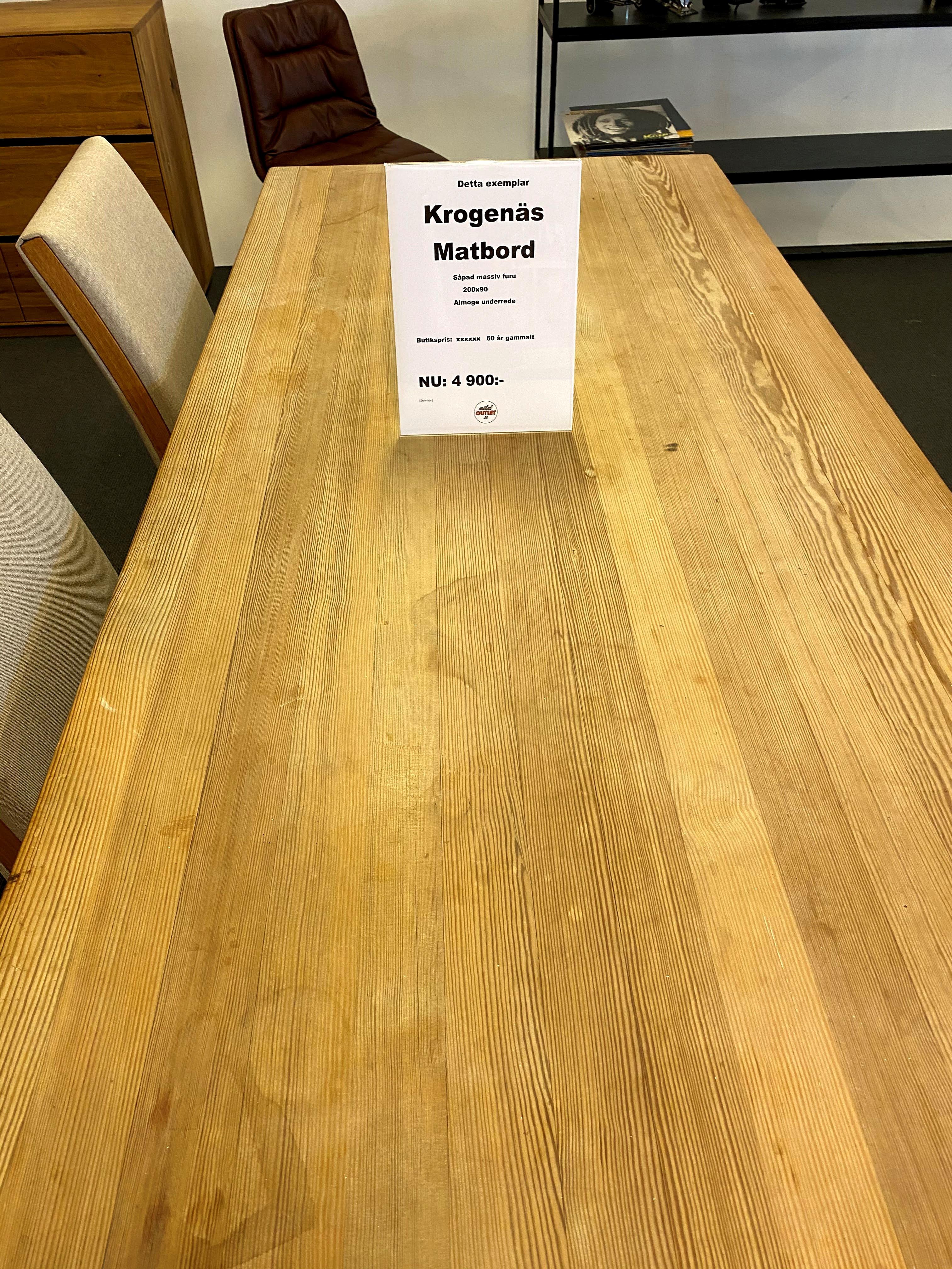 Vintage matbord krogenäs