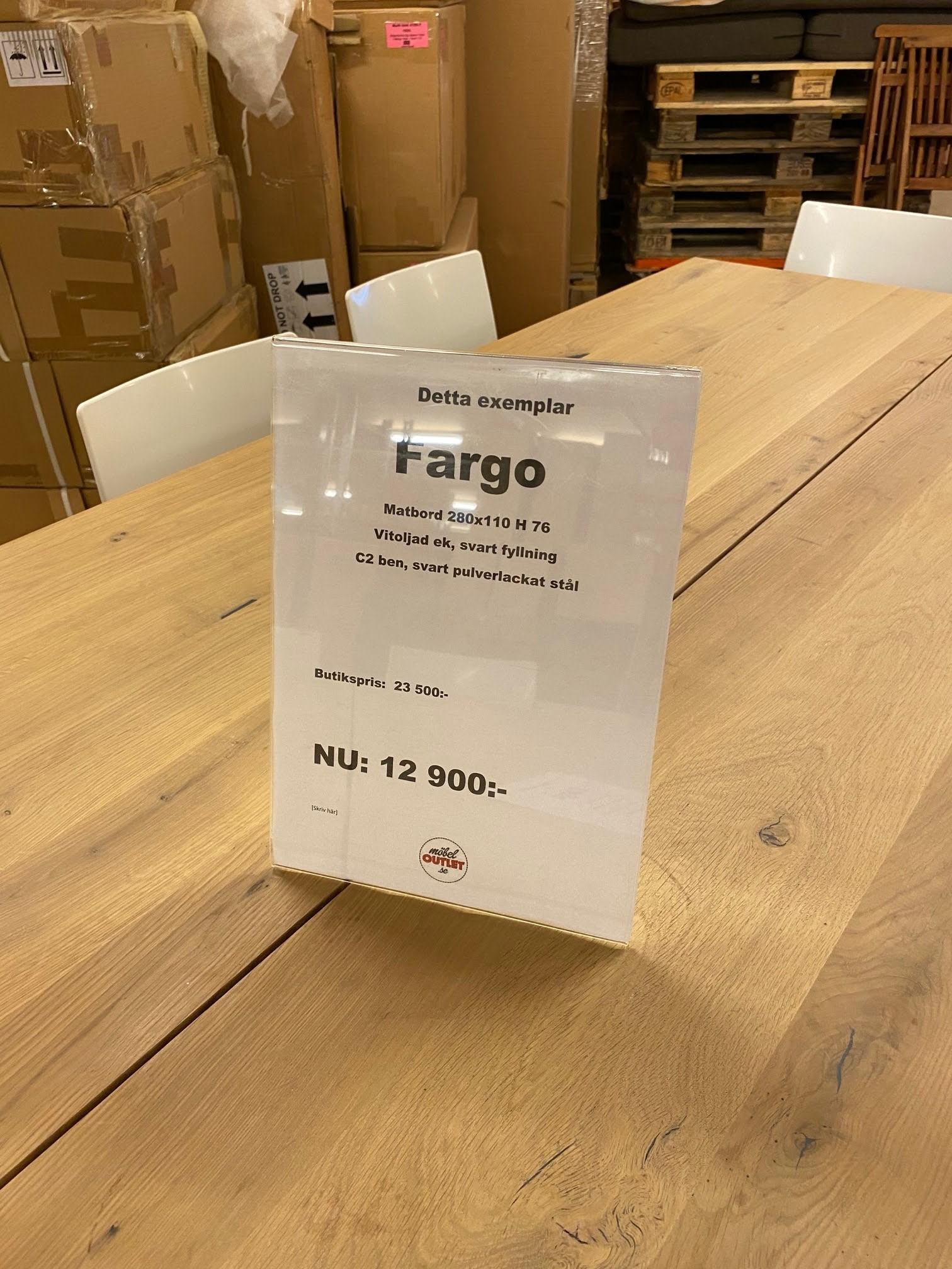 Fargo Matbord 280x110