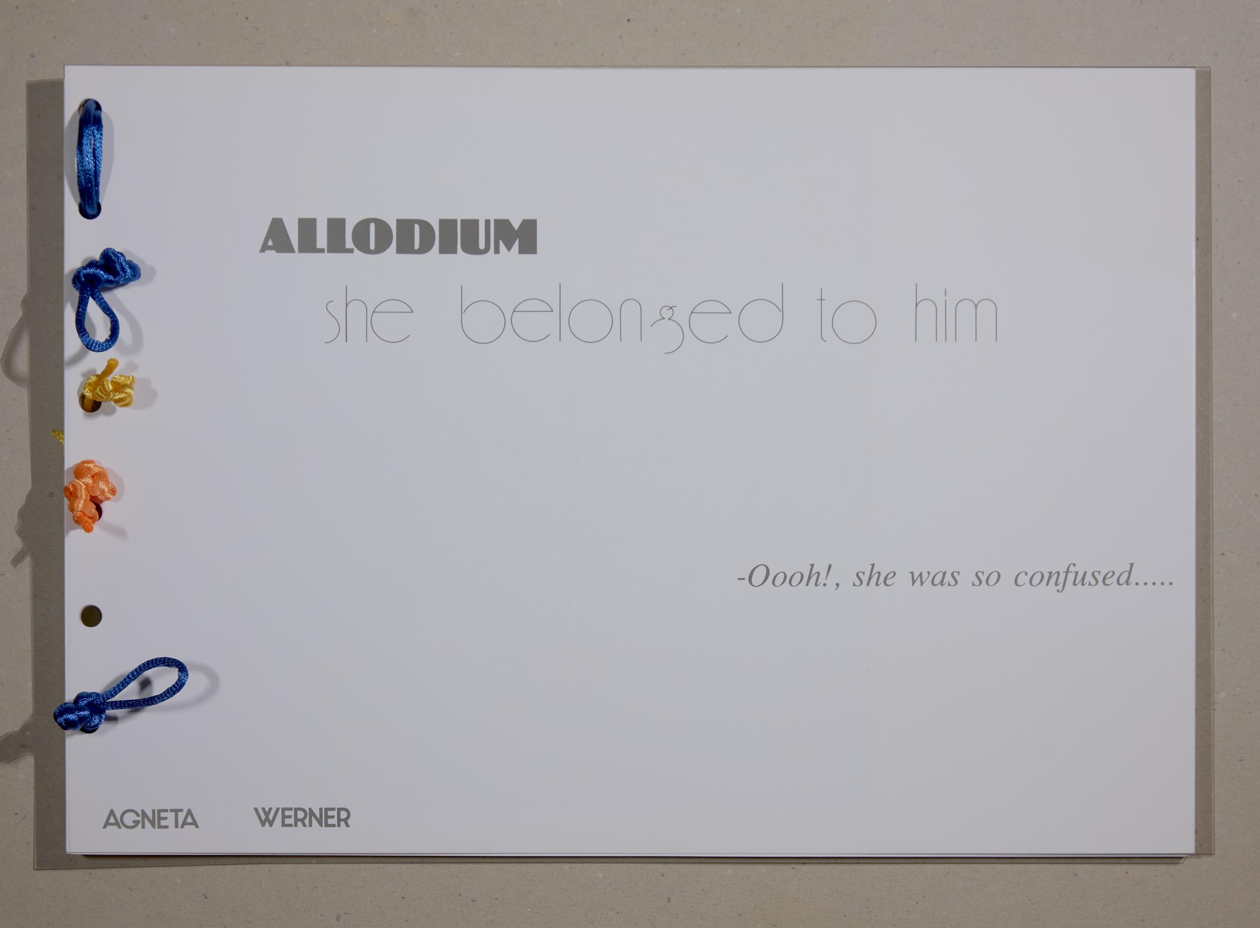 Werner, Agneta. Allodium
