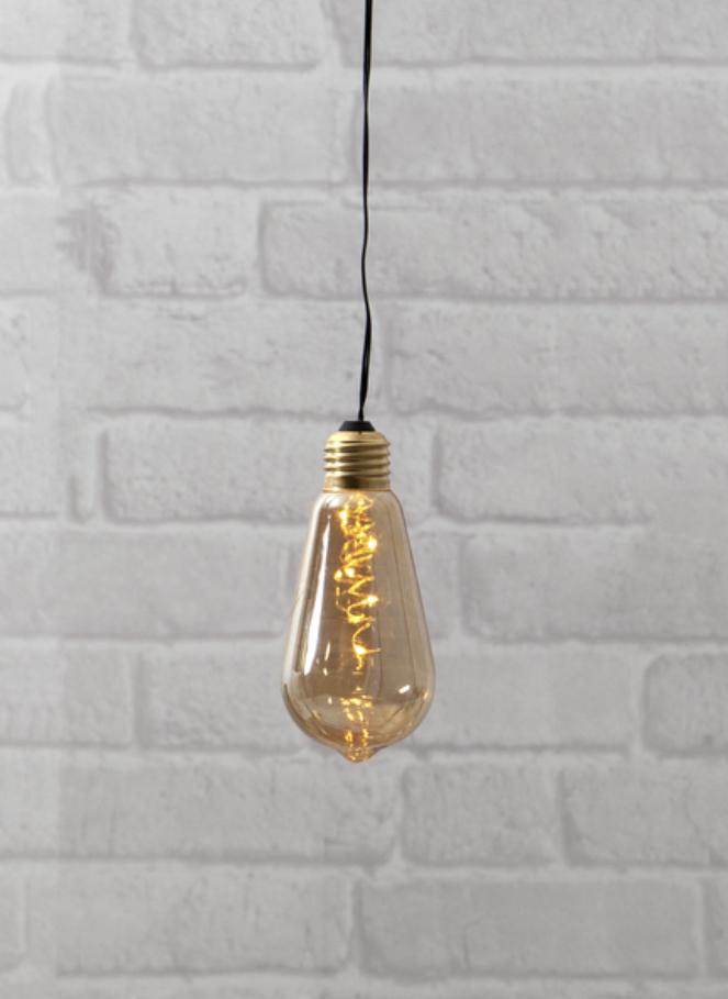 Klotlampa guldig batteridriven