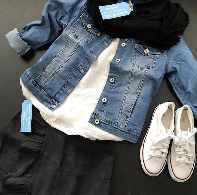 Jeansjacka med skön stretch