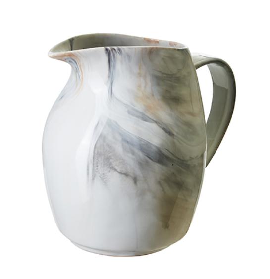 Porslinskanna melerad/marmor