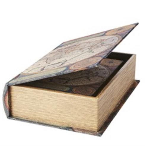 Bokgömma stor världskarta