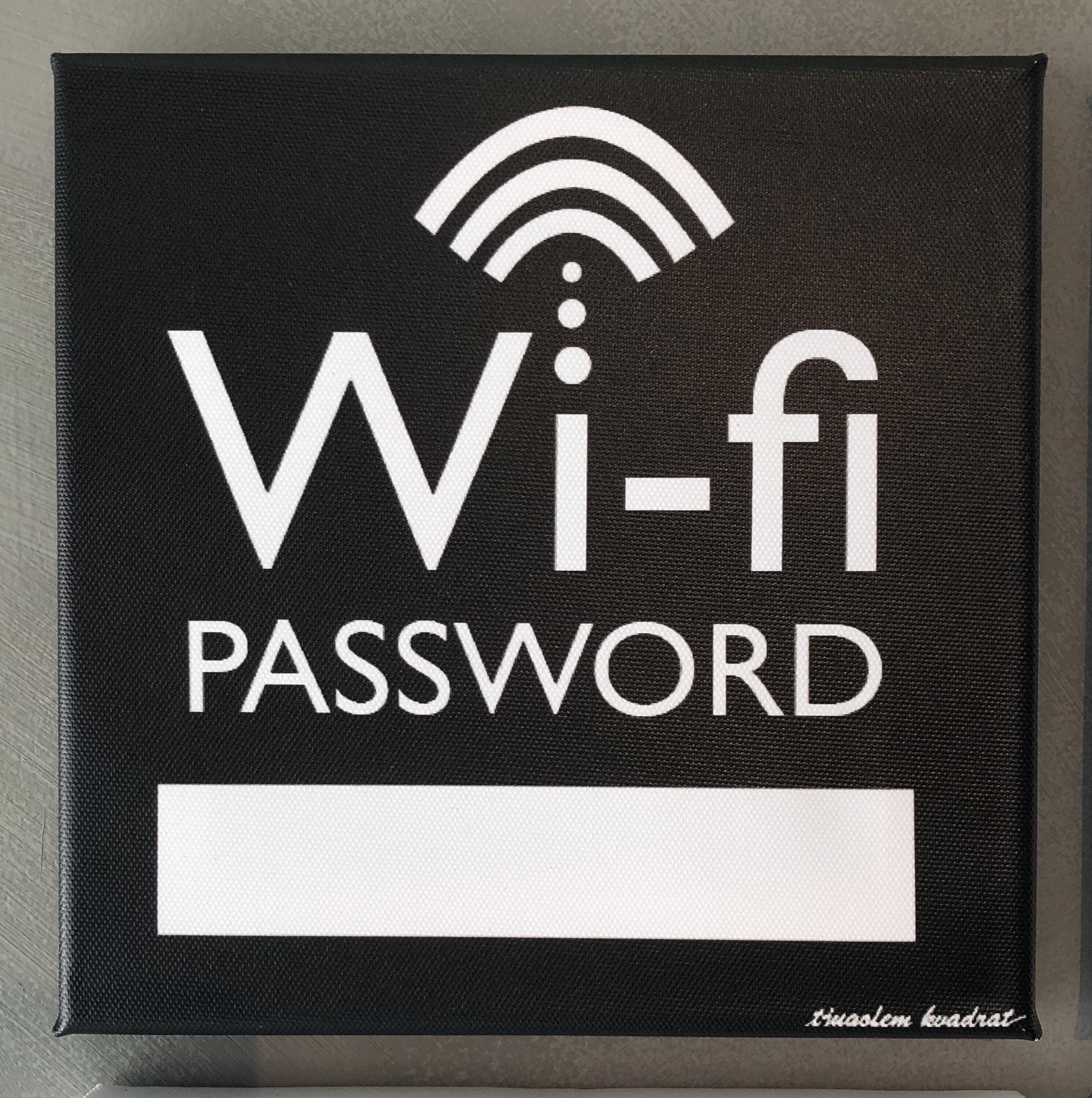 "Canvastavla ""Wi-Fi"""
