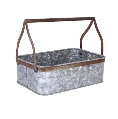 Bricklåda zink/rost (stor)