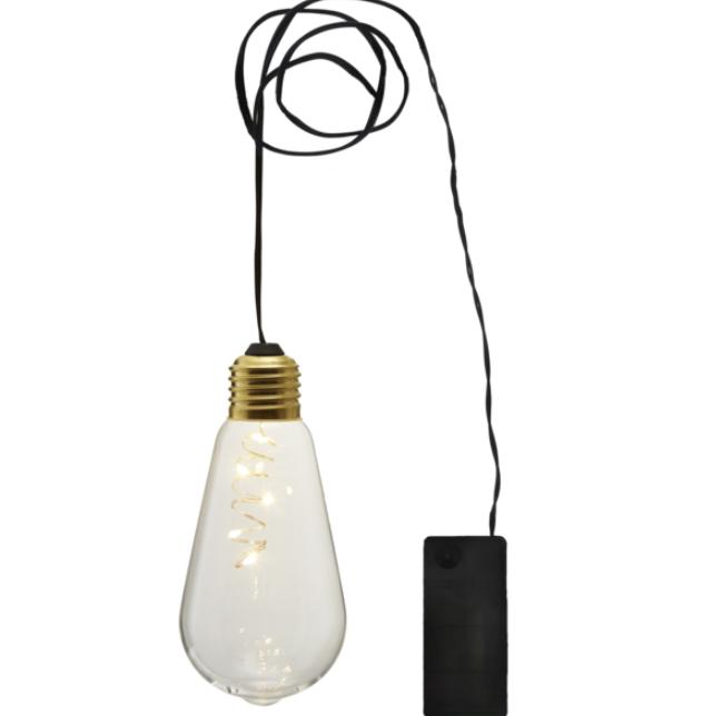 Klotlampa genomskinlig batteridriven