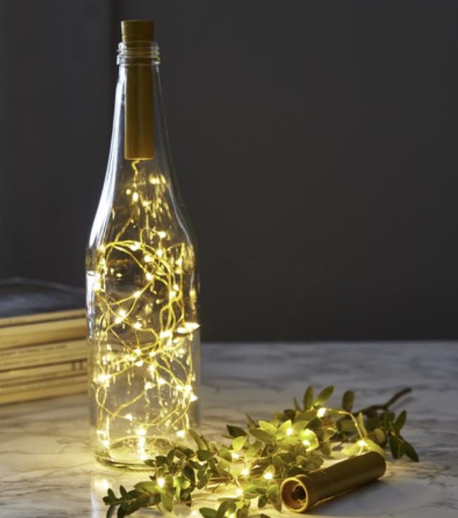 Ljusslinga till flaska