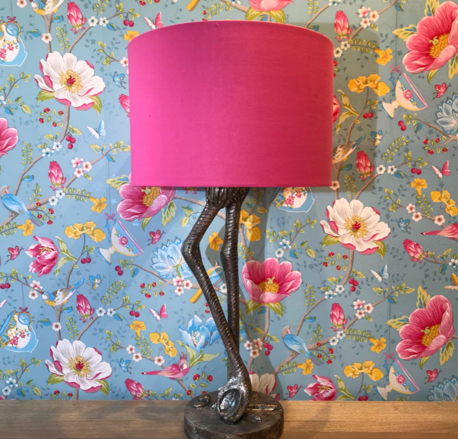 Pink flamingo lamp small 60 x 30 cm