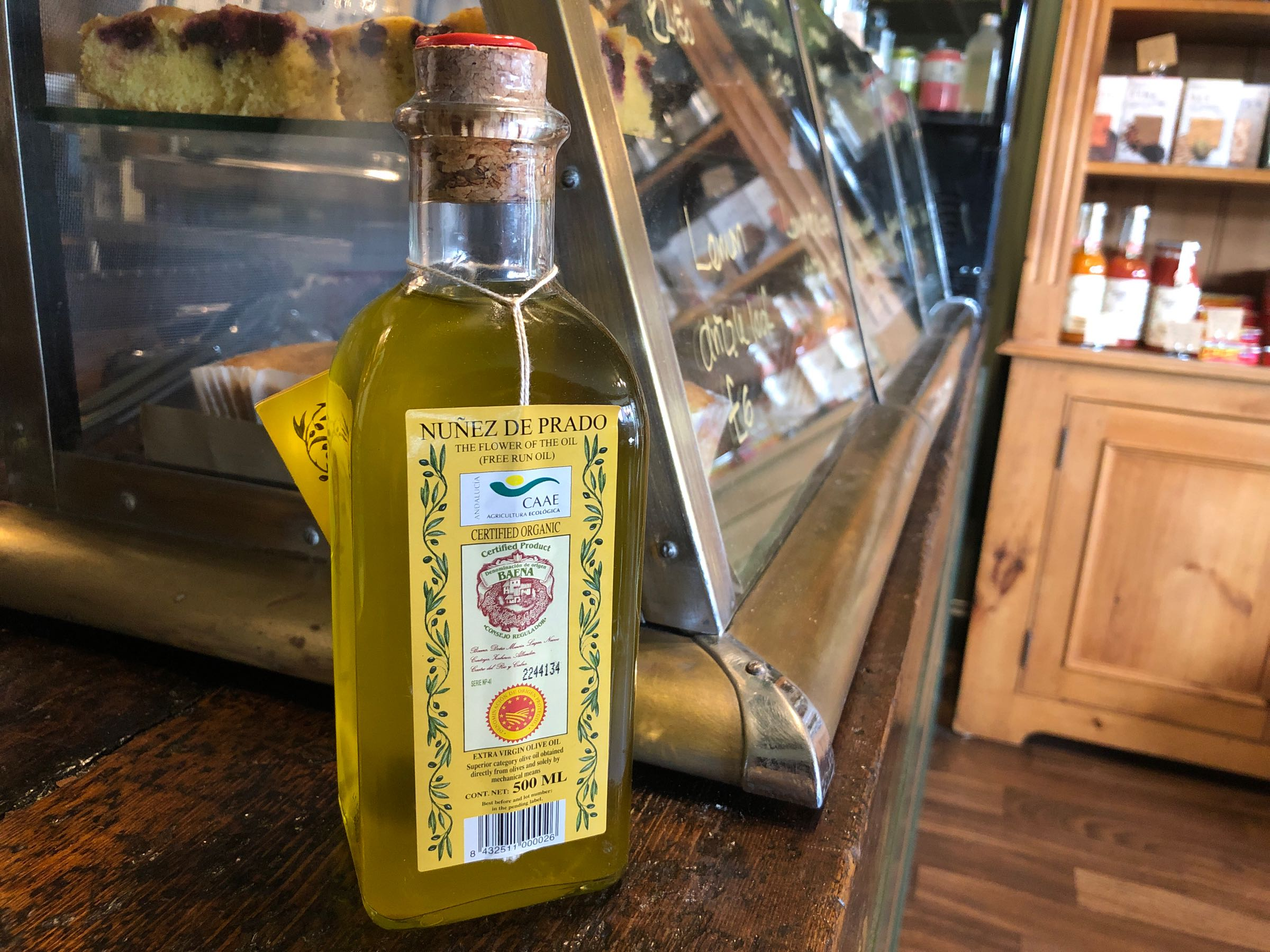 Núñez de Prado organic EVOO DOP, bottle 500ml